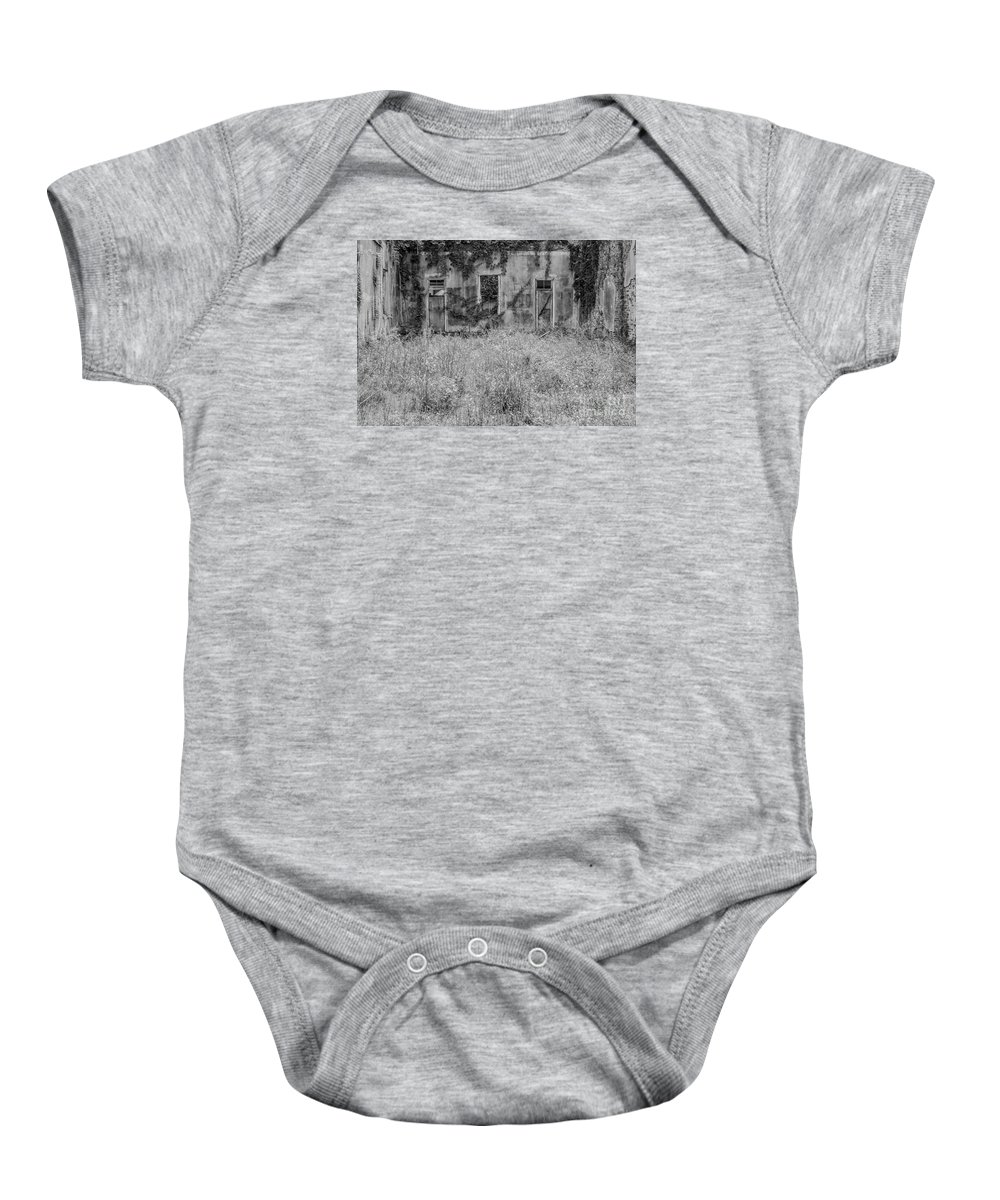 Ruins Baby Onesie featuring the photograph Abandoned by John Greco