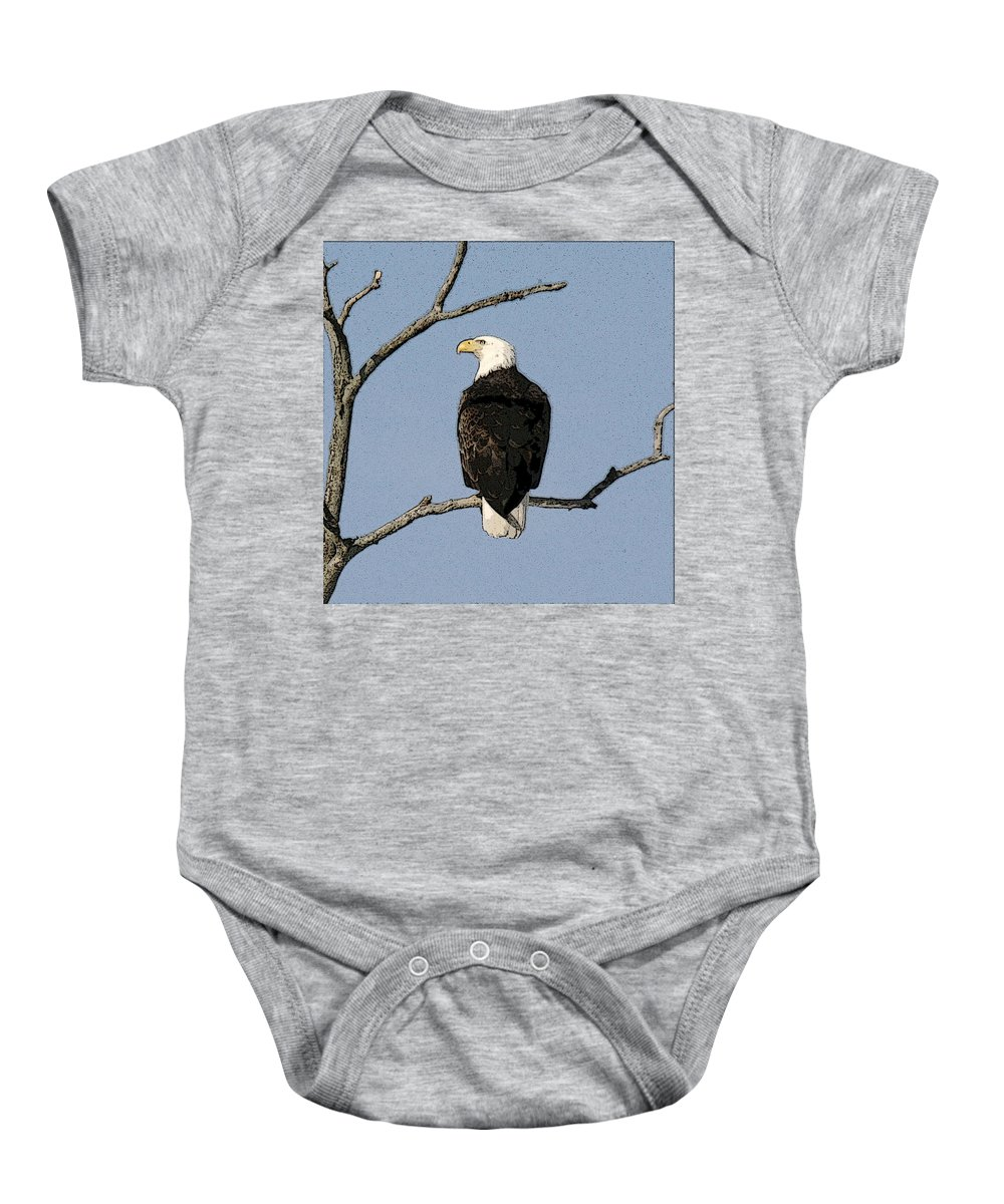 Eagle Baby Onesie featuring the photograph Look Out by Robert Pearson