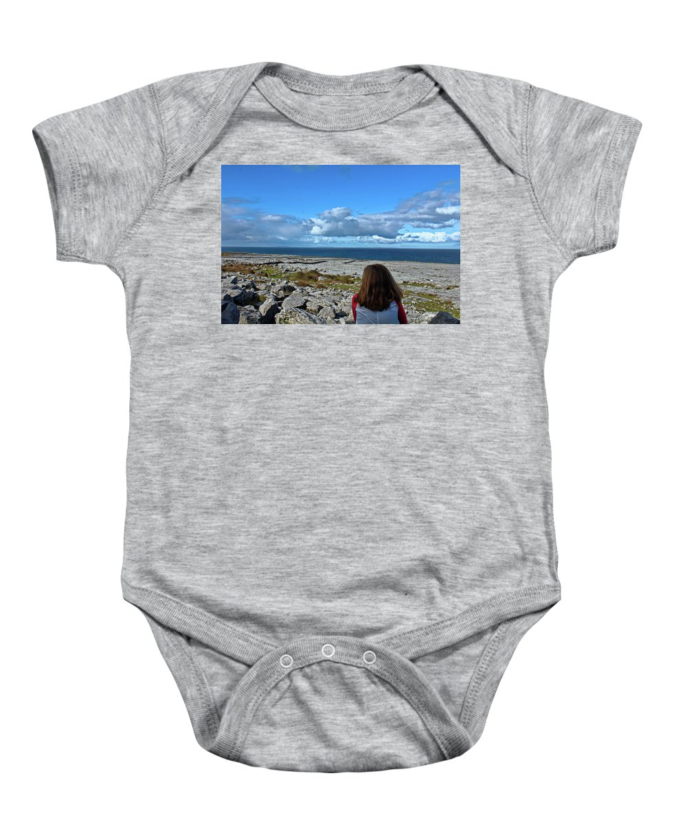 View Baby Onesie featuring the photograph Looking At The Beautiful View by Kieran Keliher-Burke