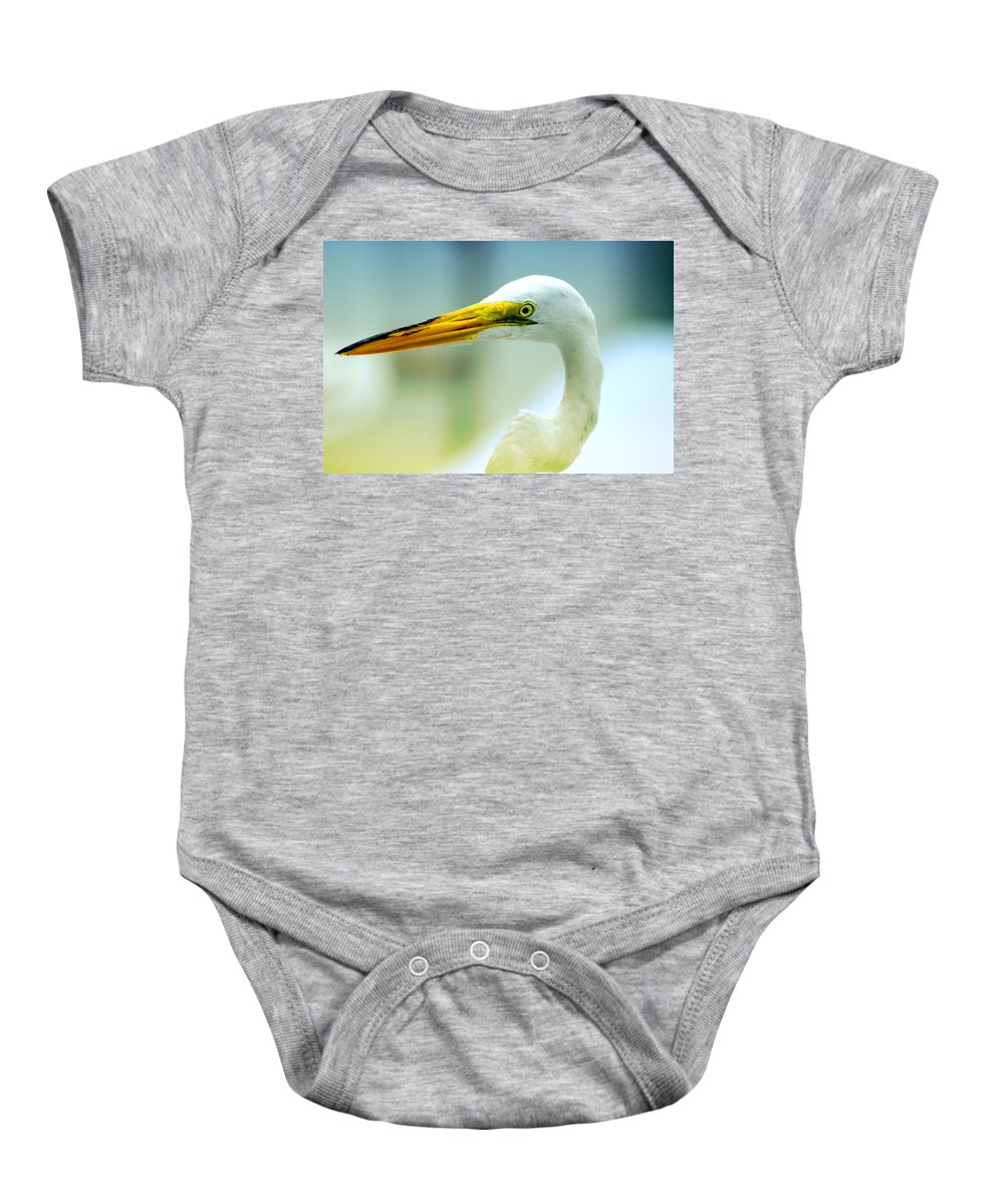 Photography Baby Onesie featuring the photograph Looking For The Catch by Susanne Van Hulst