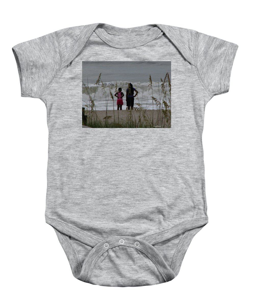 Patzer Baby Onesie featuring the photograph Looking by Greg Patzer