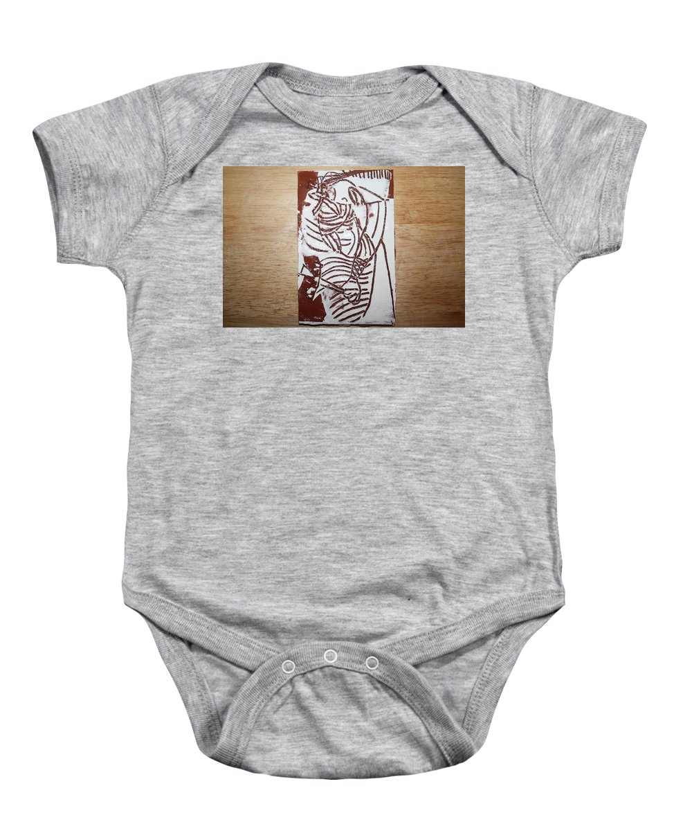 Mamamama Africa Twojesus Baby Onesie featuring the ceramic art Lord Bless Me 16 - Tile by Gloria Ssali