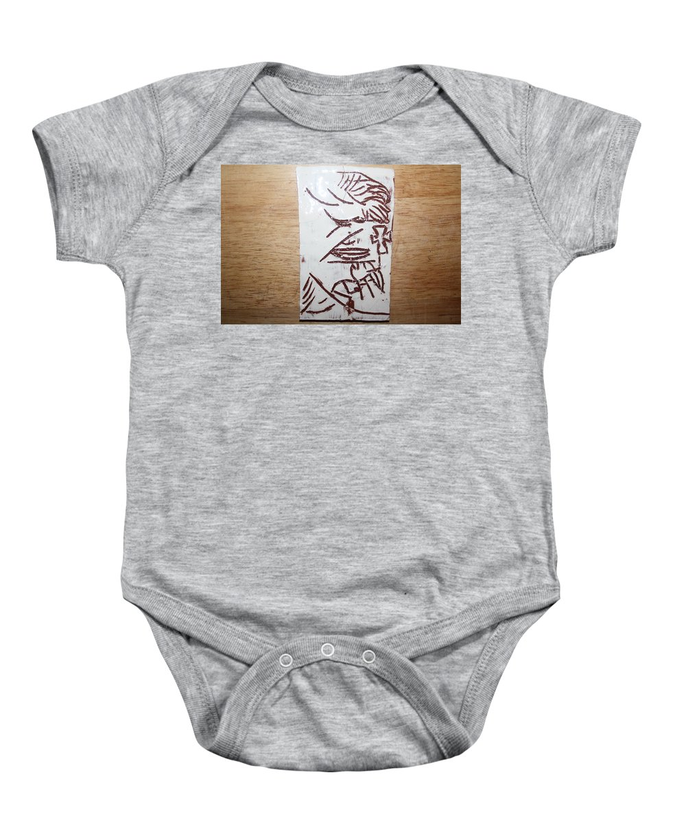 Mamamama Africa Twojesus Baby Onesie featuring the ceramic art Lord Bless Me 17 - Tile by Gloria Ssali