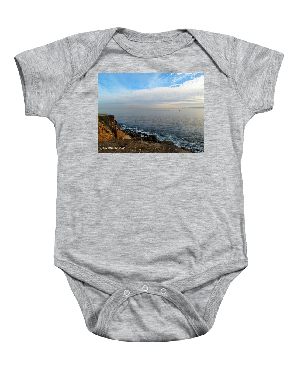 Sunset Baby Onesie featuring the photograph Los Angeles Sunset by Joan Minchak