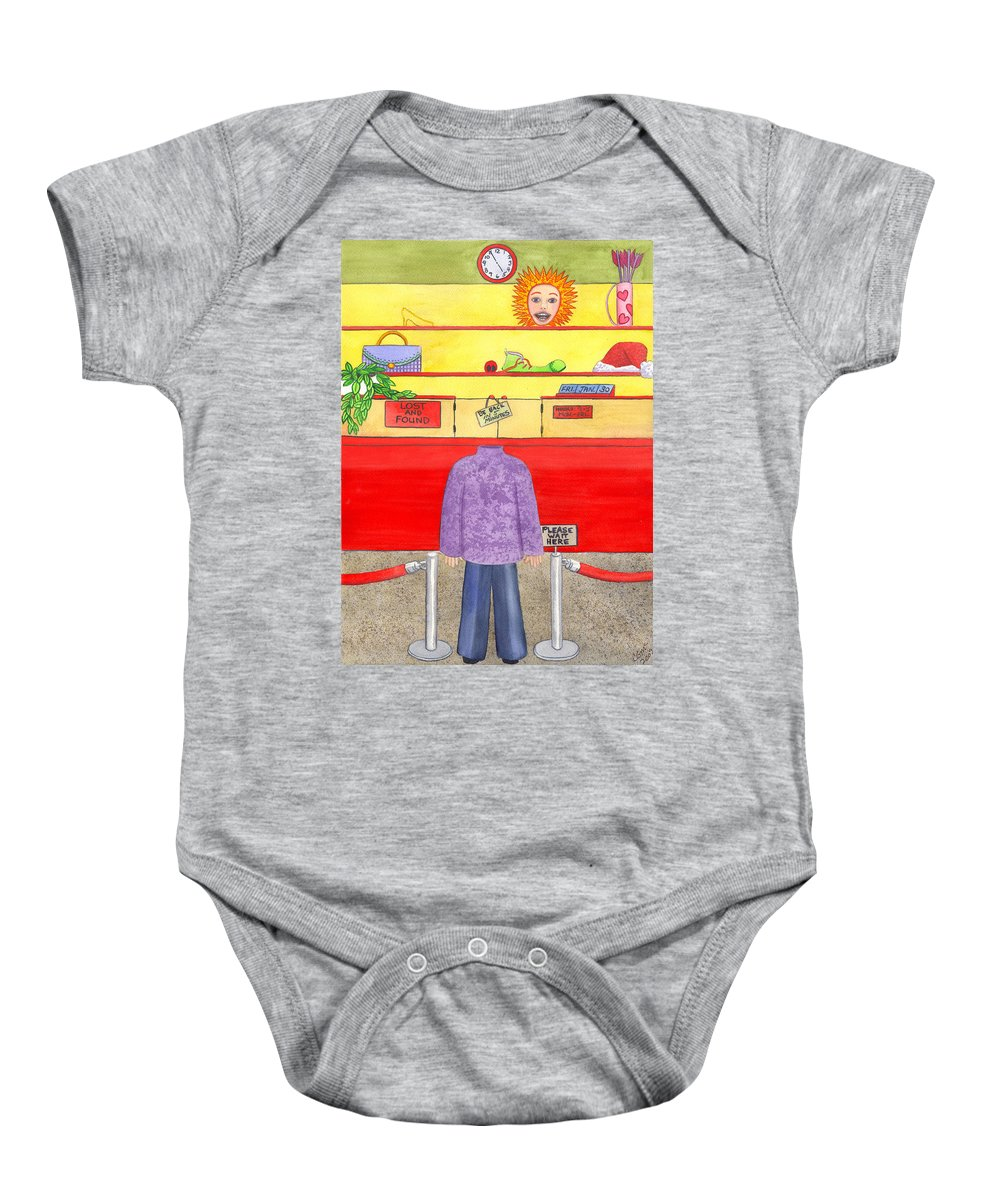 Humor Baby Onesie featuring the painting Lose Something by Catherine G McElroy