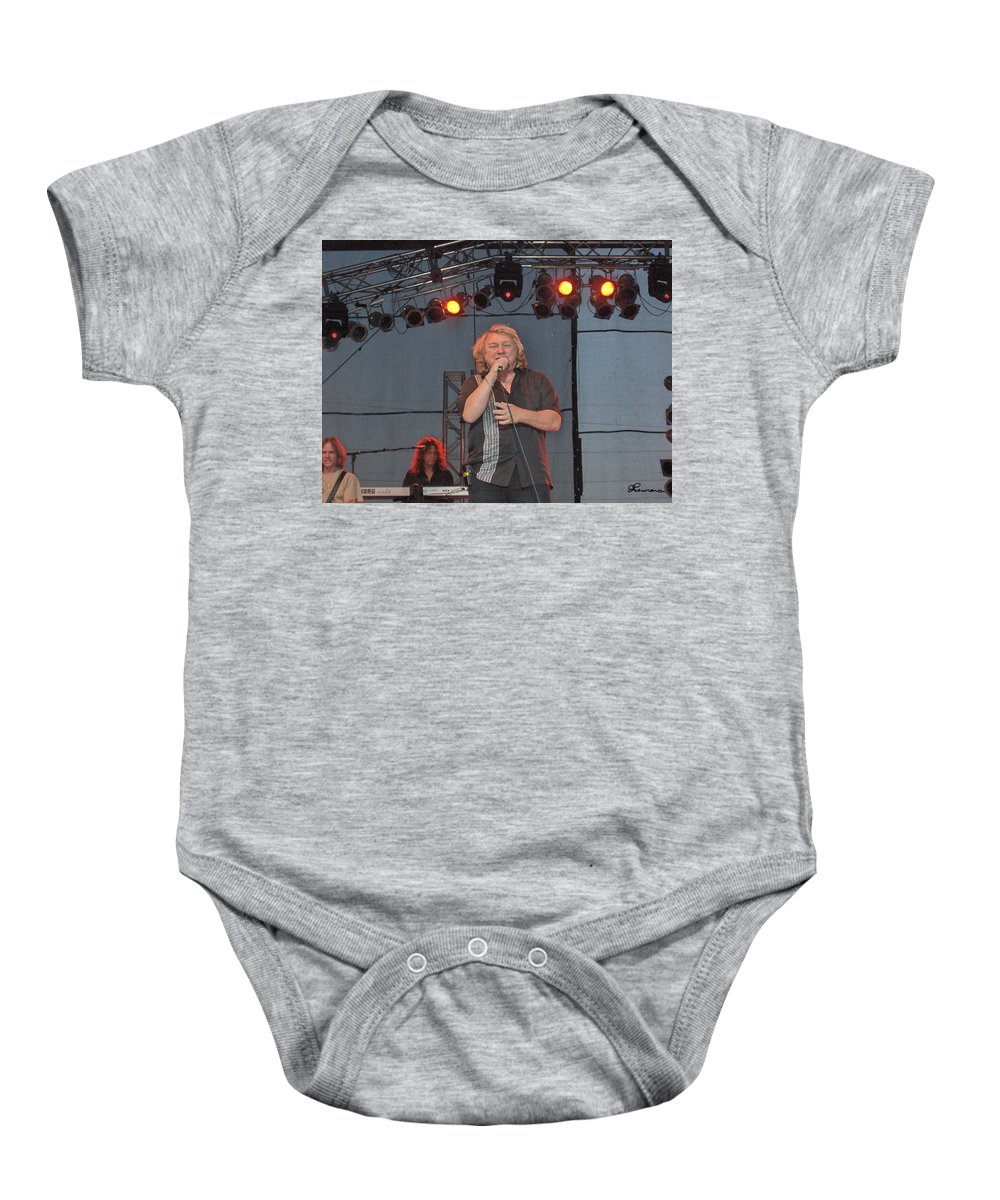 Lou Gramm Band Music Singer Rock And Roll Concert Lead Vocals Baby Onesie featuring the photograph Lou Gramm by Andrea Lawrence