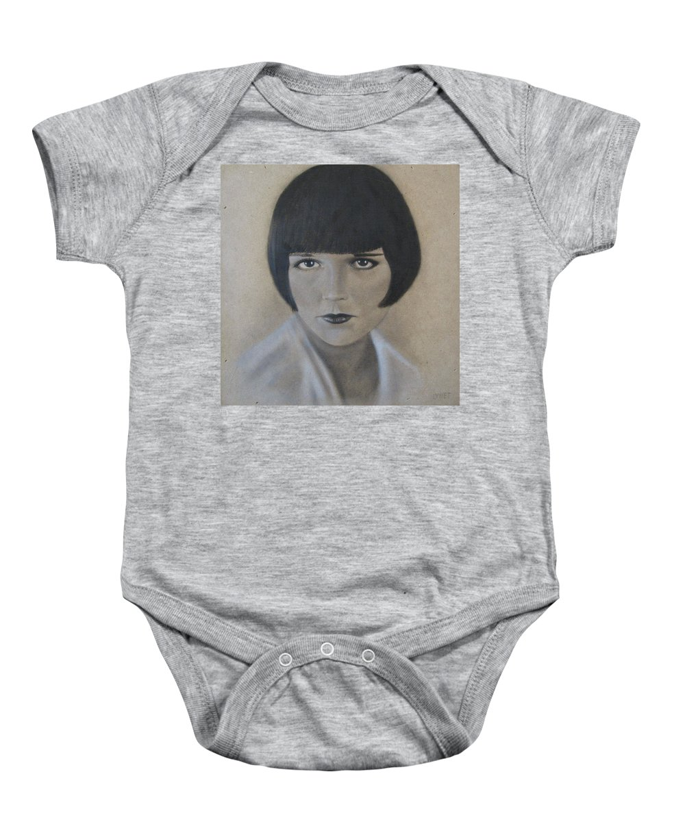 Woman Baby Onesie featuring the painting Louise by Lynet McDonald
