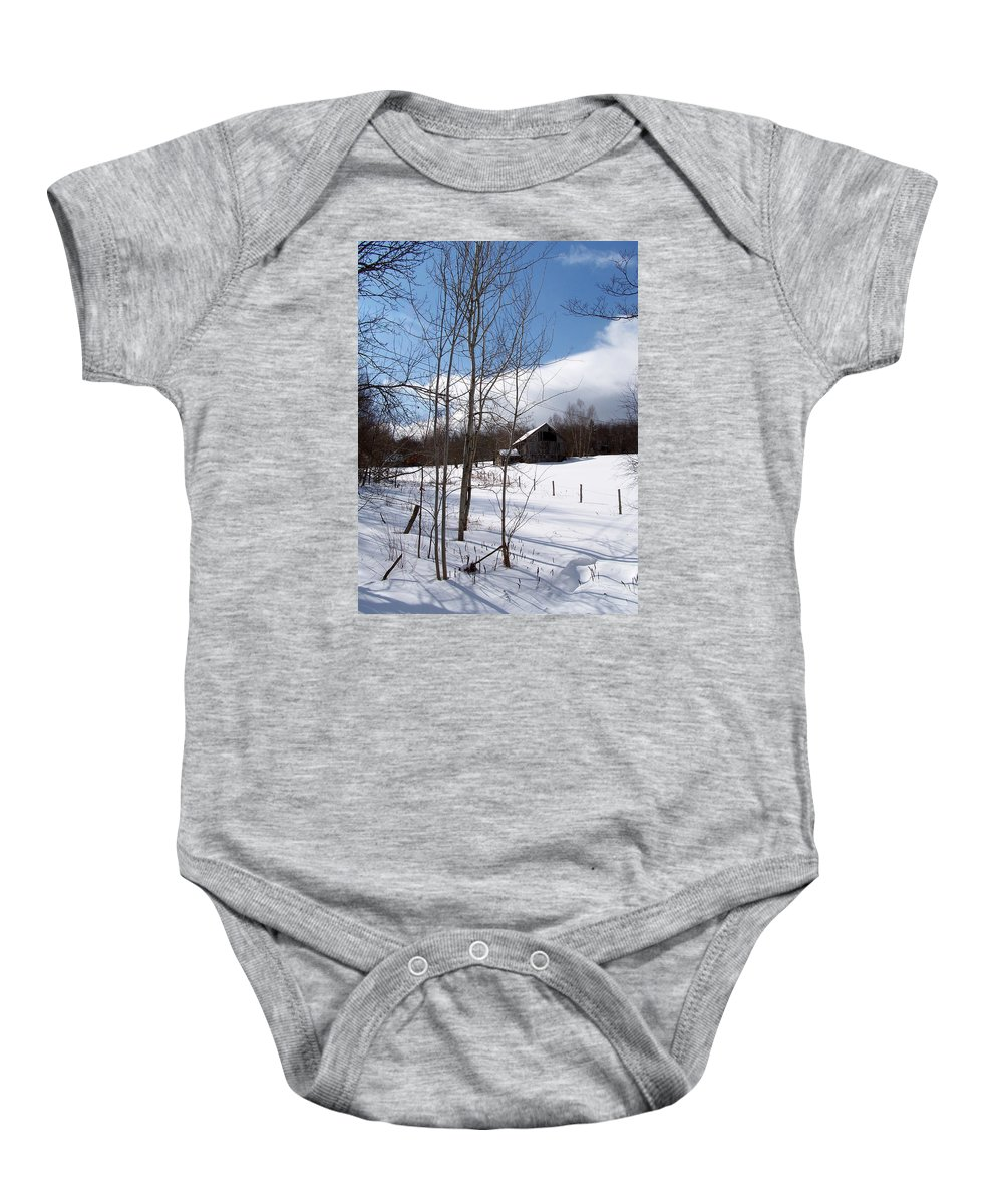 Stowe Baby Onesie featuring the photograph Louisen's Stowe 20 by Louise Haineault