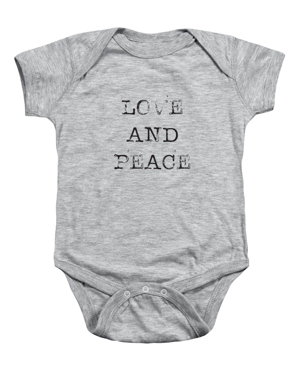 Love Baby Onesie featuring the digital art Love and Peace by Kathleen Wong