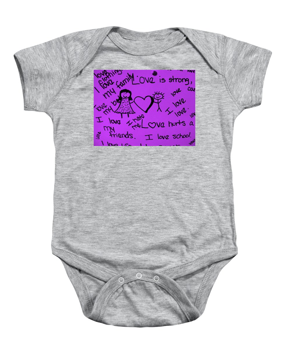 Still Life Baby Onesie featuring the photograph Love by Ed Smith