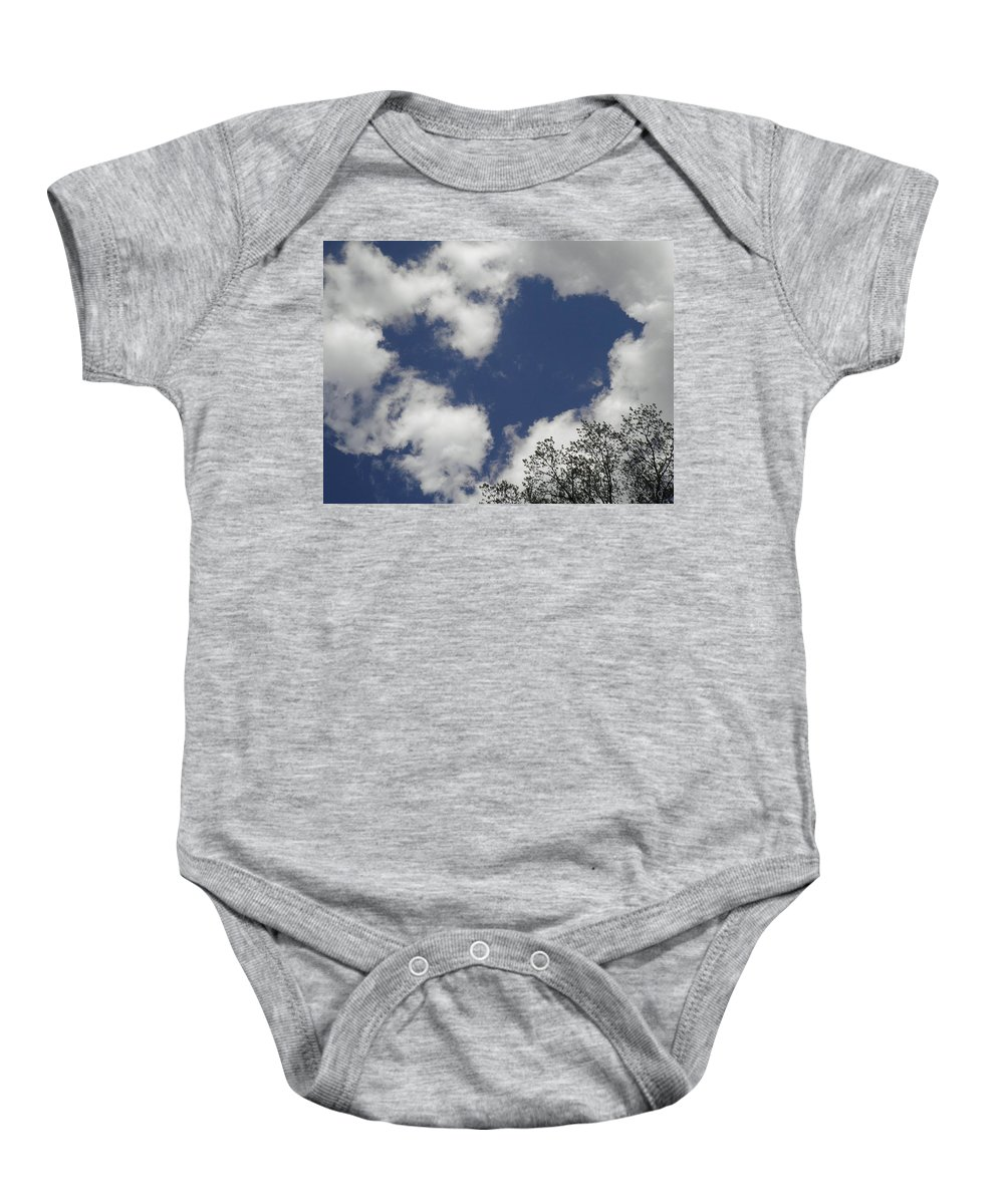 Sky Baby Onesie featuring the photograph Love From Above by T Cook