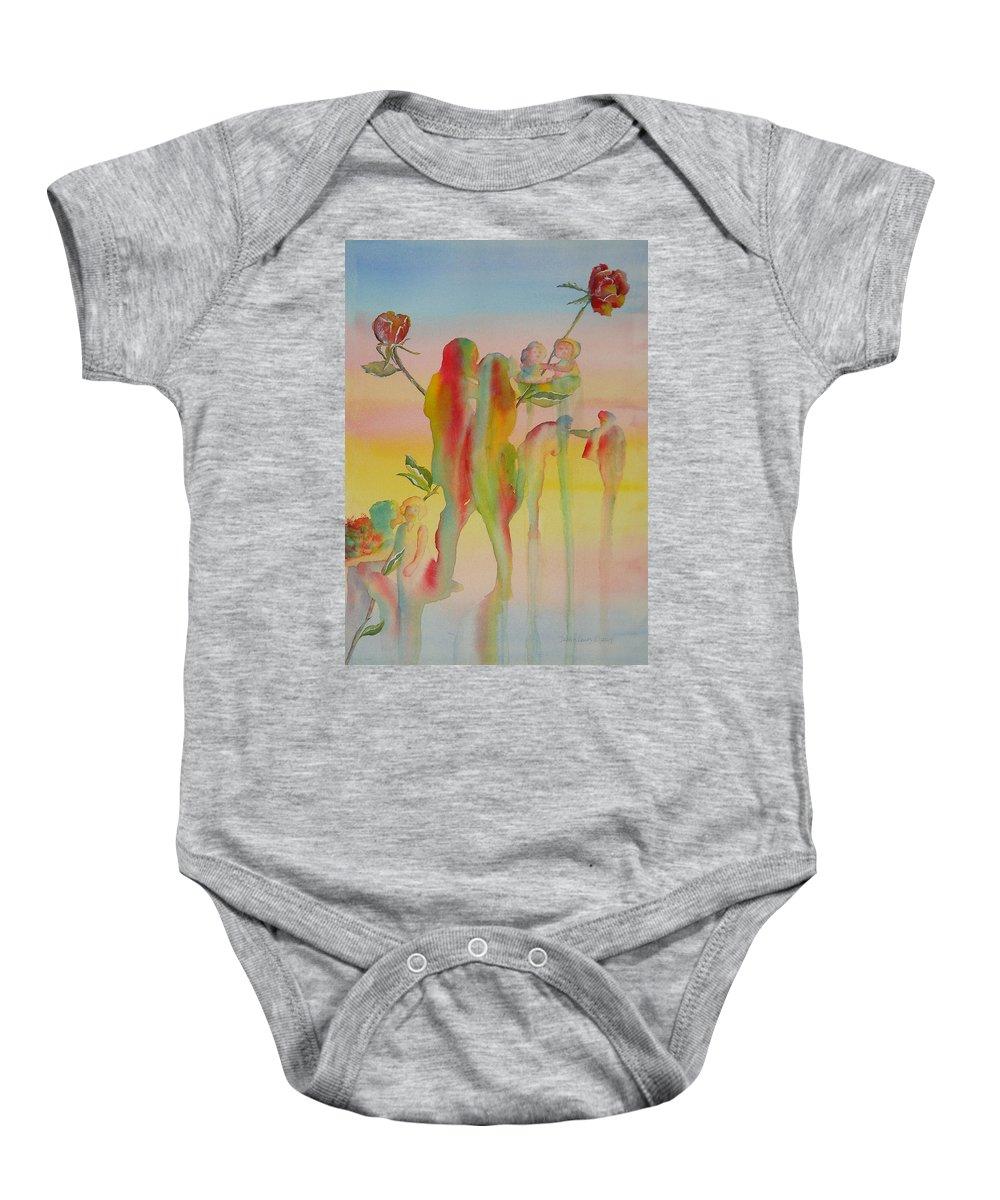 Love Baby Onesie featuring the painting Love Is Eternal by Debbie Lewis