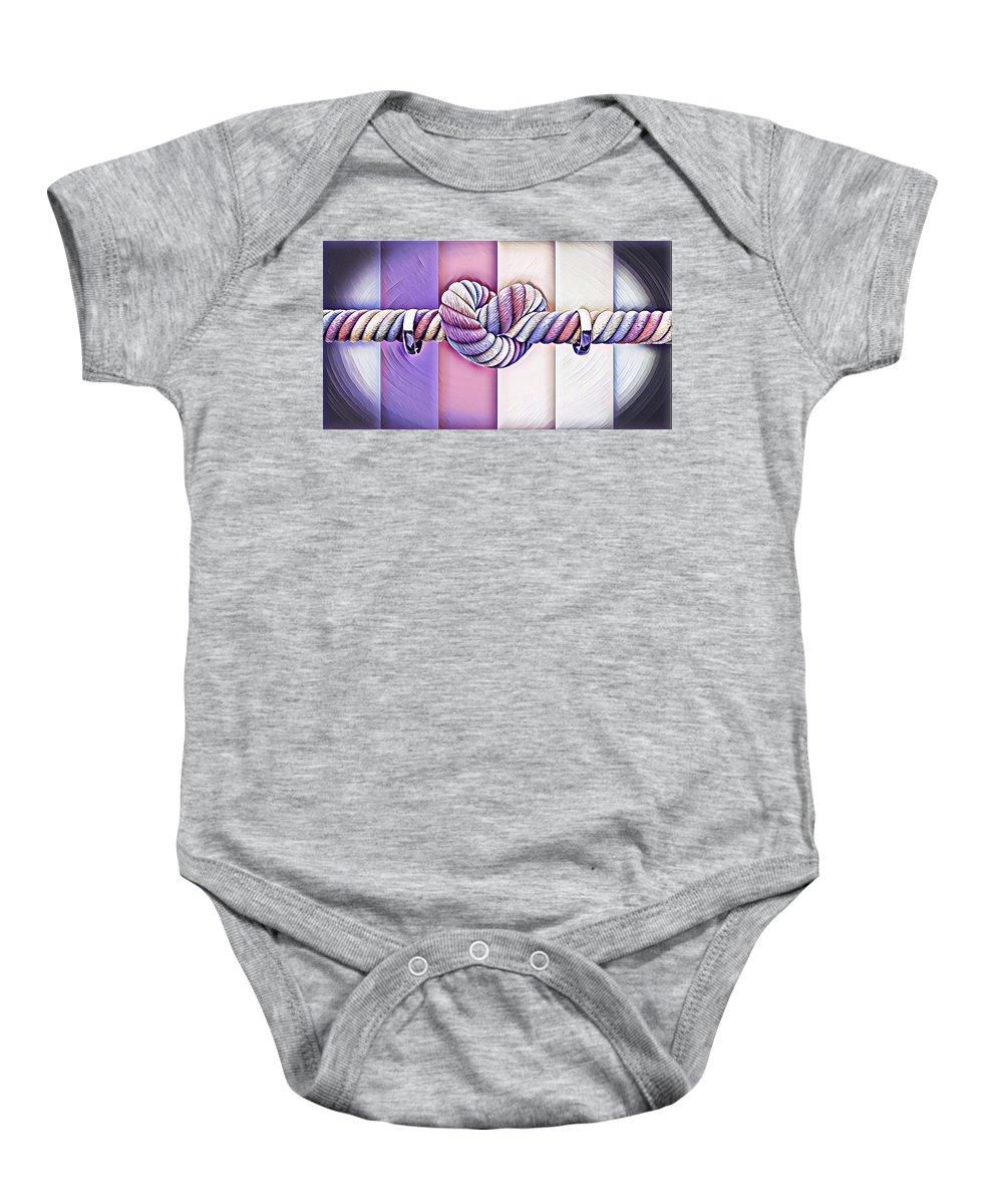 Baby Onesie featuring the digital art Love Wins/fields by Patrick Osborne