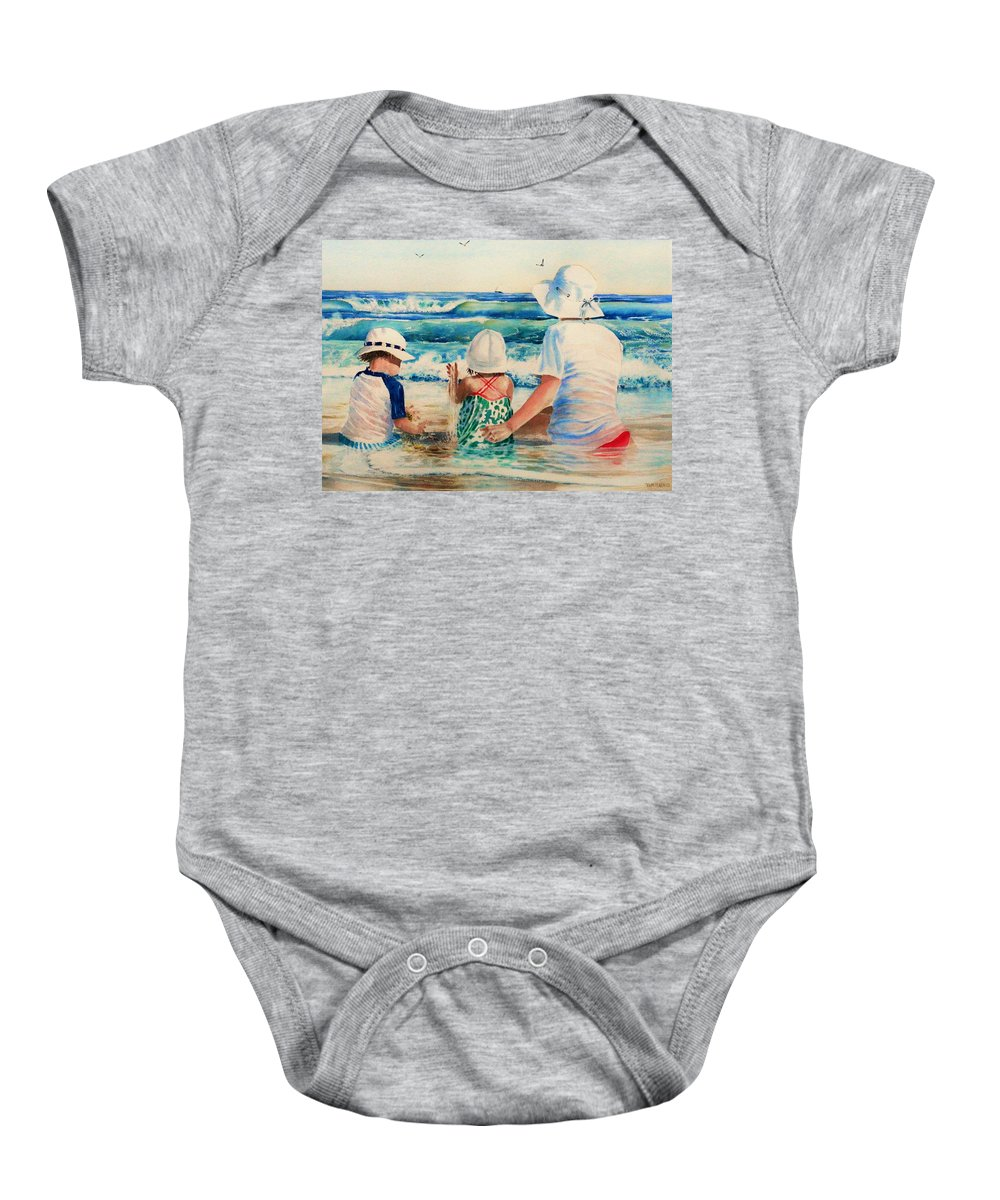 Beach Baby Onesie featuring the painting Low Tide by Tom Harris