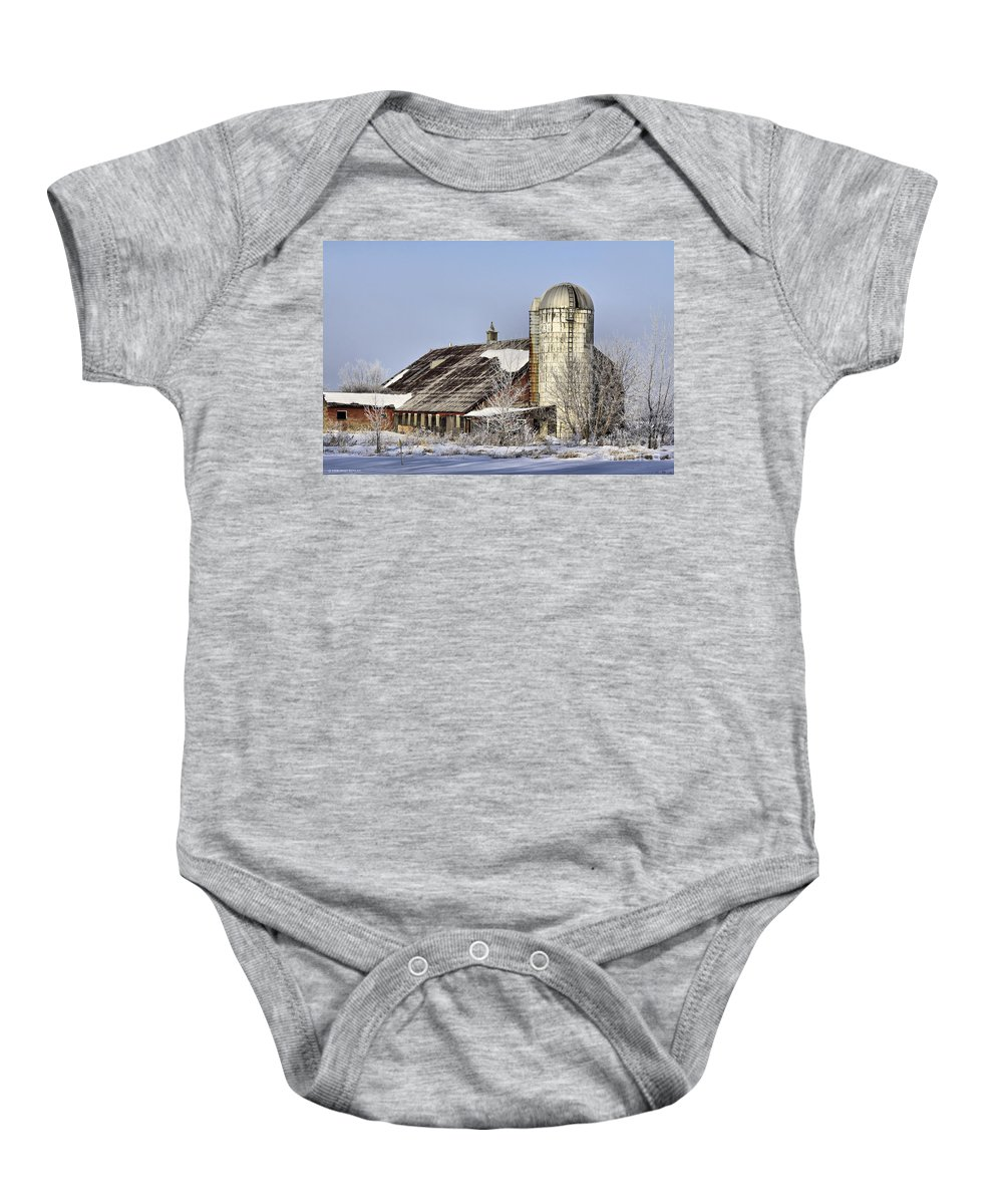Vermont Baby Onesie featuring the photograph Lower Newton Rd. Barn by Deborah Benoit