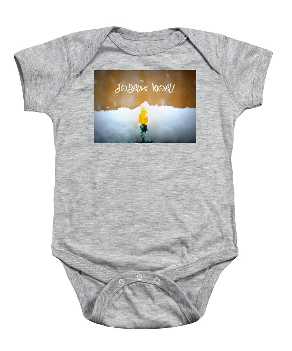 Lumineres De Noel Baby Onesie featuring the photograph Lumieres De Noel by Lisa Knechtel