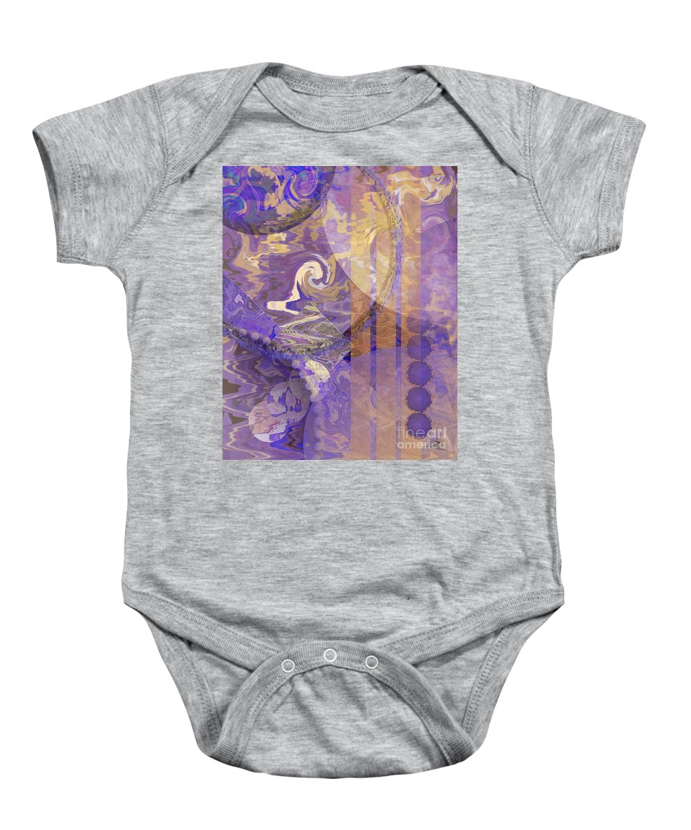 Lunar Impressions Baby Onesie featuring the digital art Lunar Impressions by John Beck