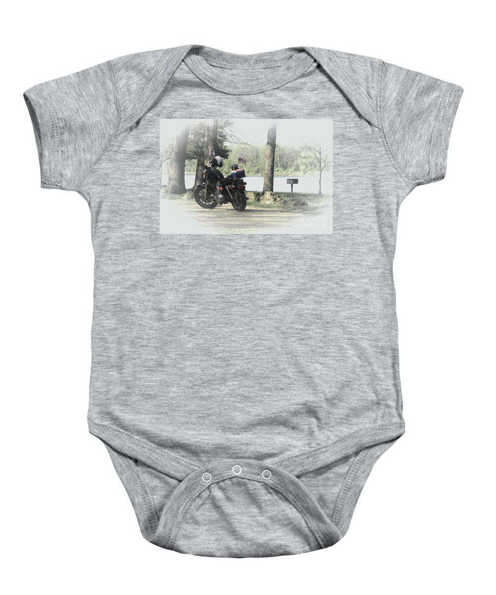 Illinois Baby Onesie featuring the photograph Luncheon At The Park by Laura Birr Brown
