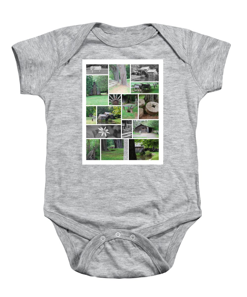 Water Baby Onesie featuring the photograph Mabry Mill by Eric Liller