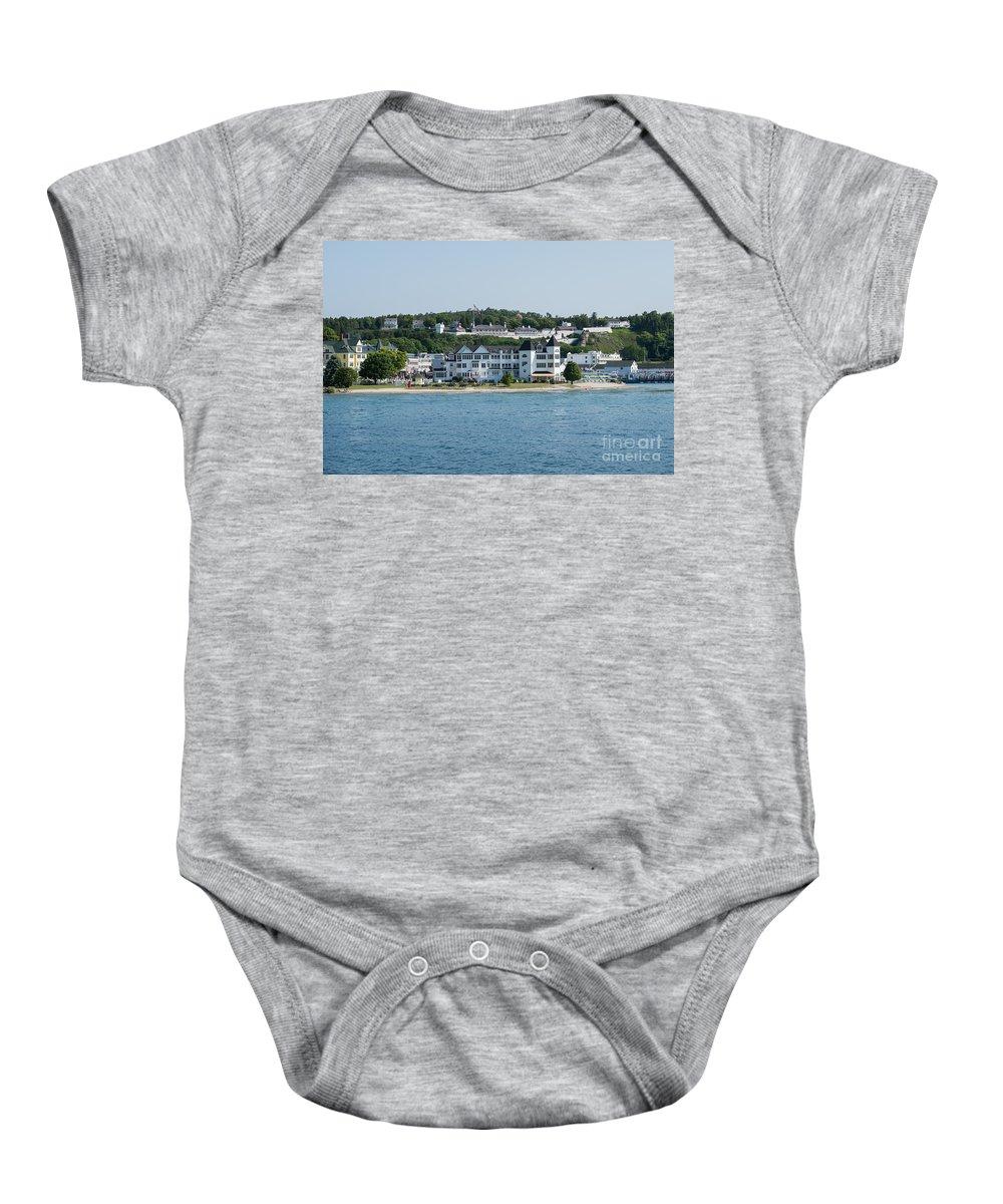 Mackinac Baby Onesie featuring the photograph Mackinac Island 2 by Wesley Farnsworth