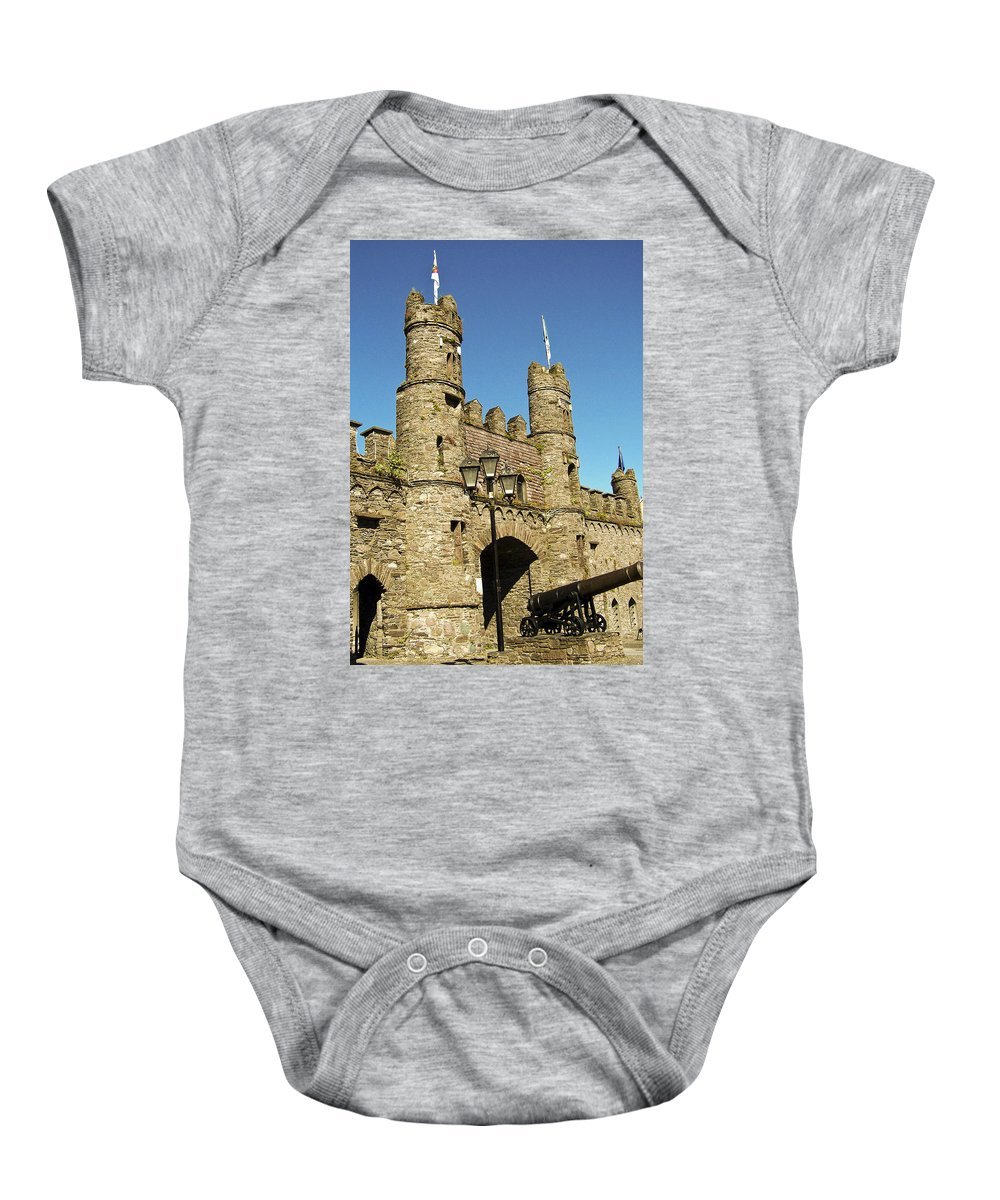 Irish Baby Onesie featuring the photograph Macroom Castle County Cork Ireland by Teresa Mucha