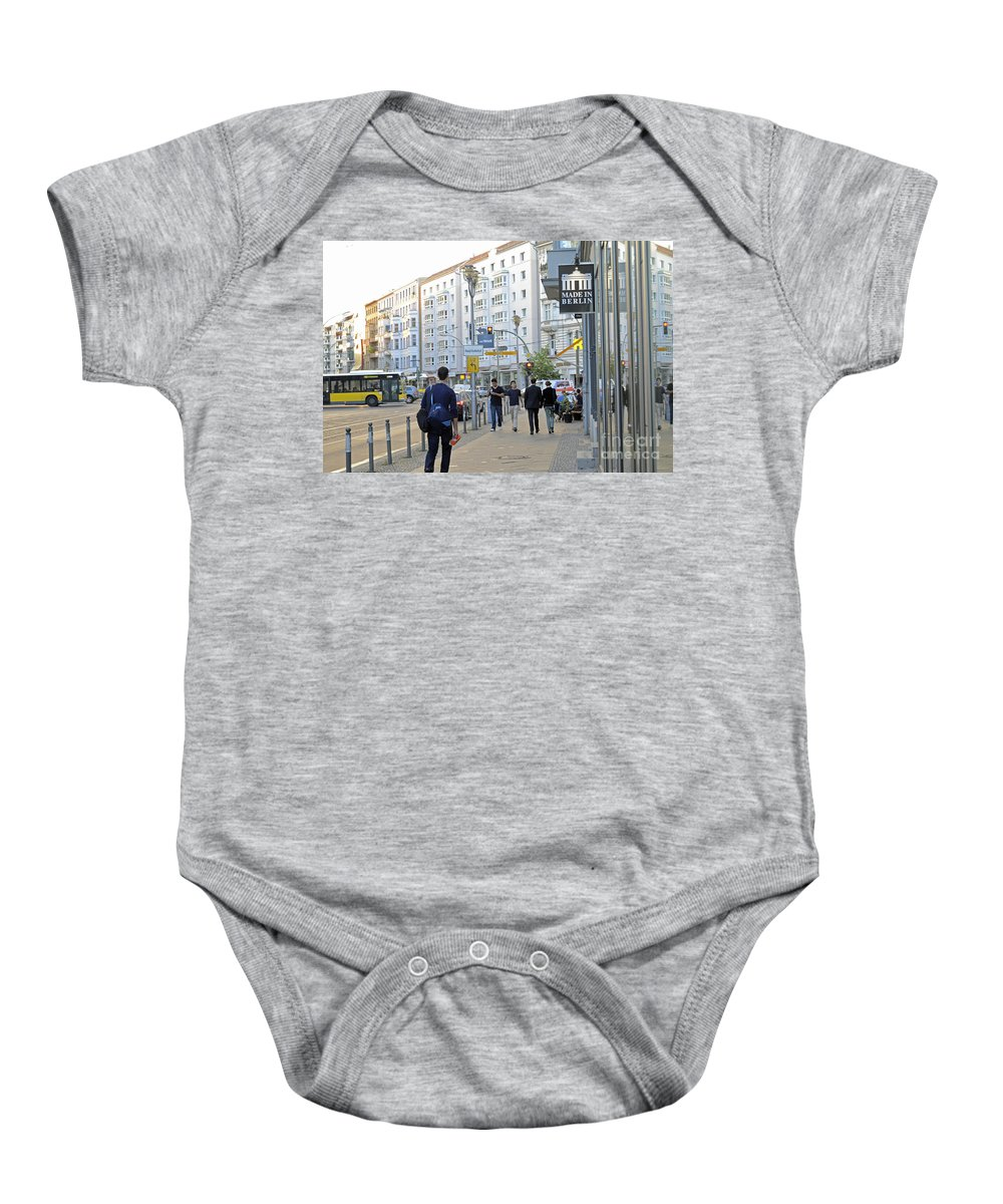 Berlin Baby Onesie featuring the photograph Made In Berlin by Elaine Berger