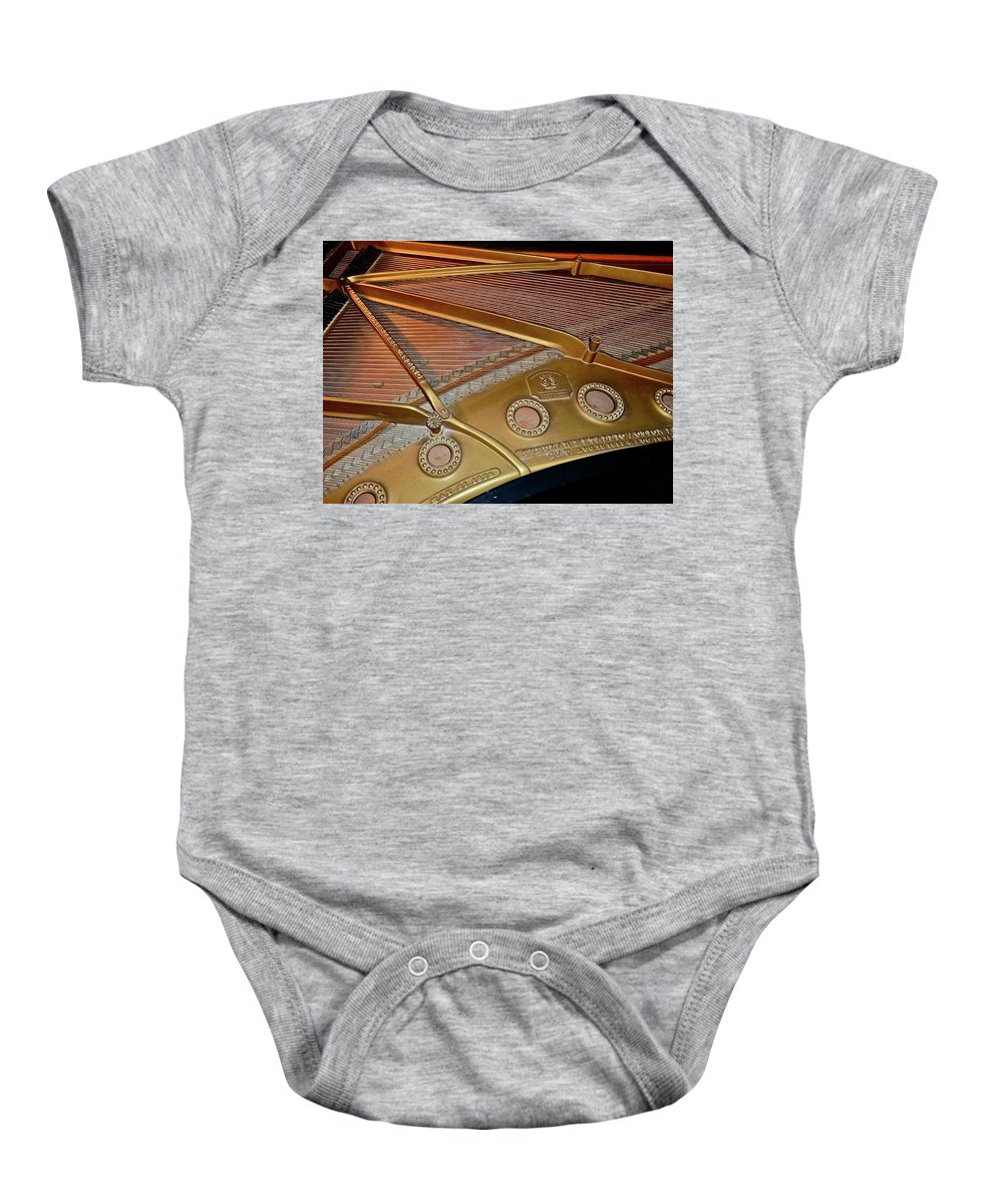 Music Baby Onesie featuring the photograph Made To Last by Diana Hatcher