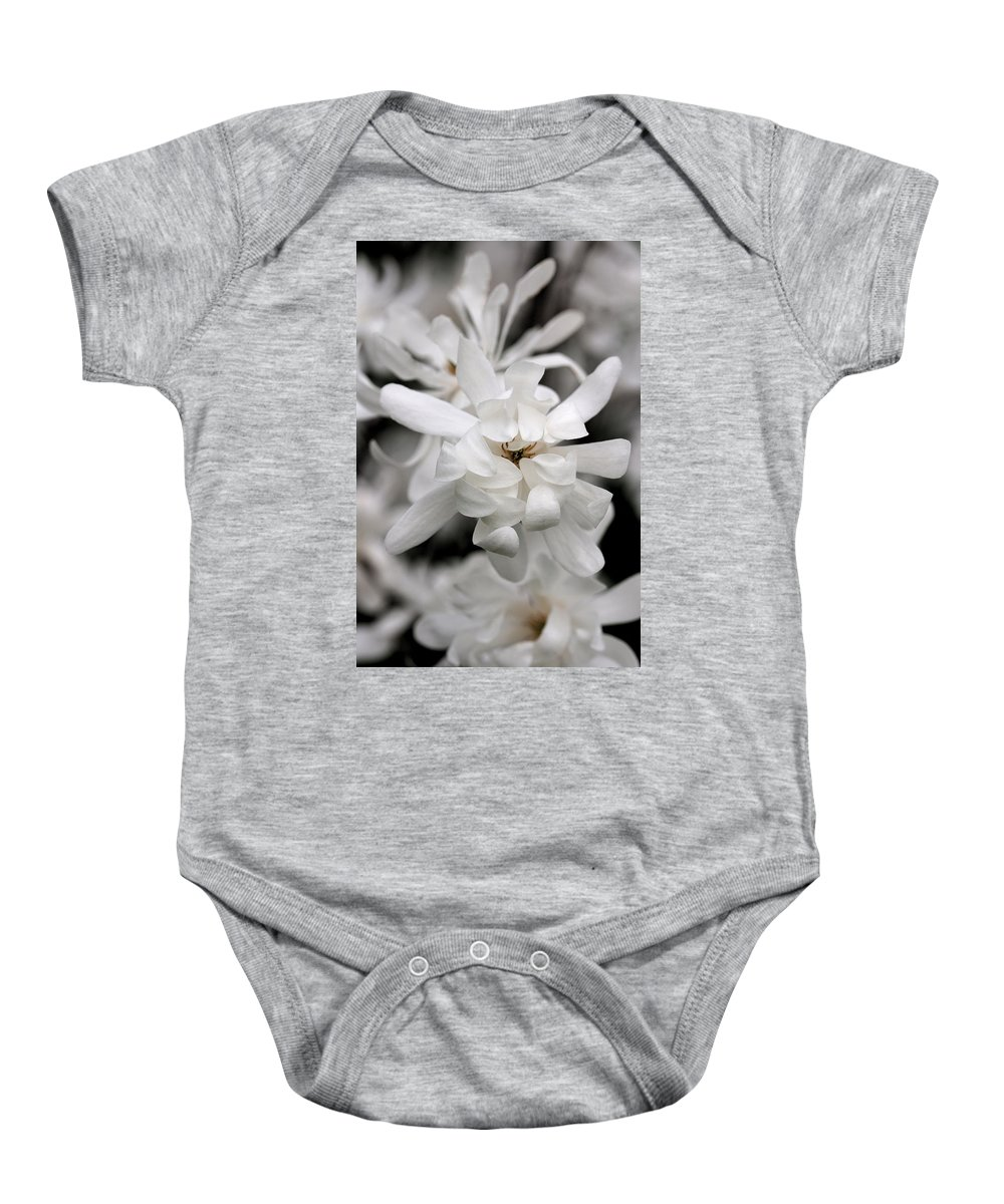 Flower Baby Onesie featuring the photograph Magnolia by Angela Rath