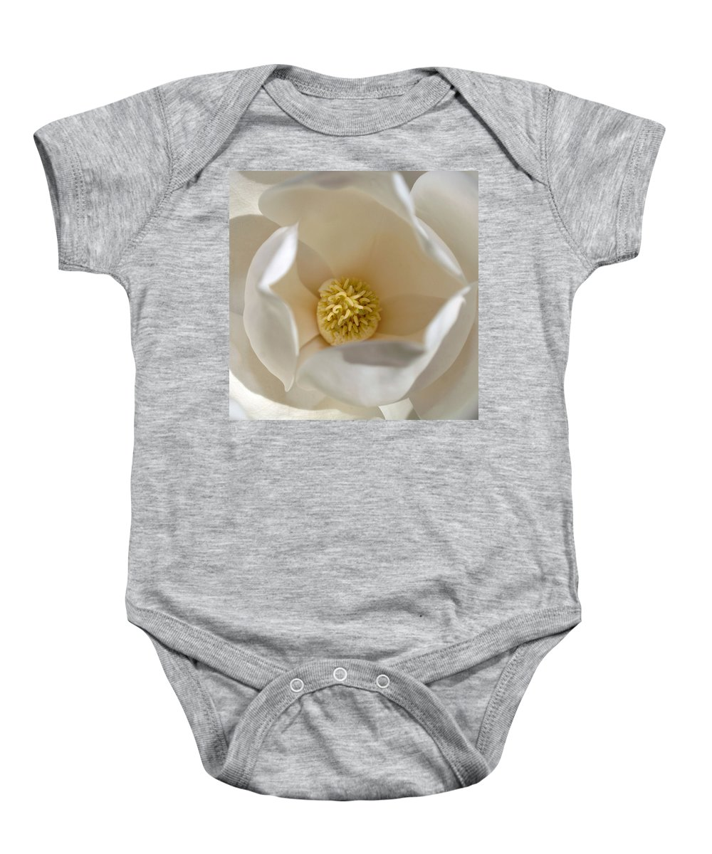 Magnolia Baby Onesie featuring the photograph Magnolia Flower by Jill Reger