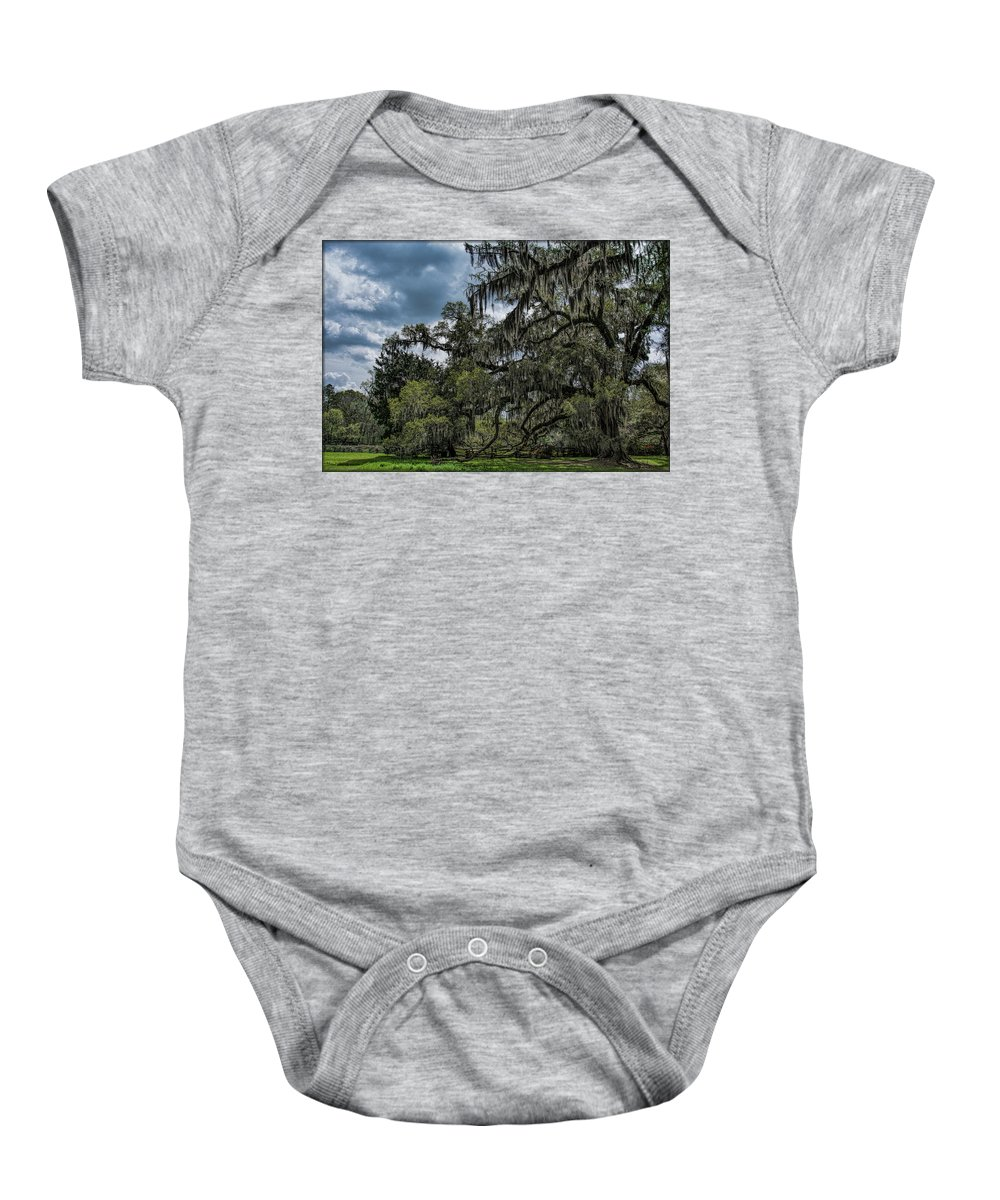Tree Baby Onesie featuring the photograph Majestic by Erika Fawcett