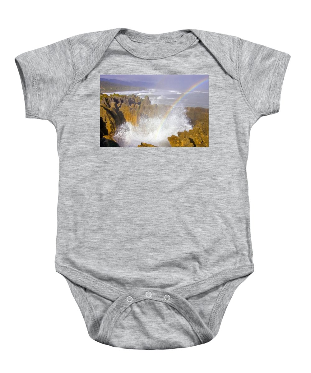 Paparoa Baby Onesie featuring the photograph Making Miracles by Mike Dawson