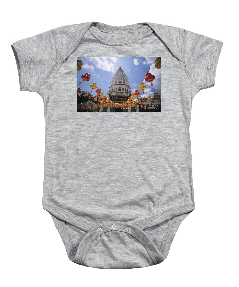 Allan Seiden Baby Onesie featuring the photograph Malaysian Temple by Allan Seiden - Printscapes