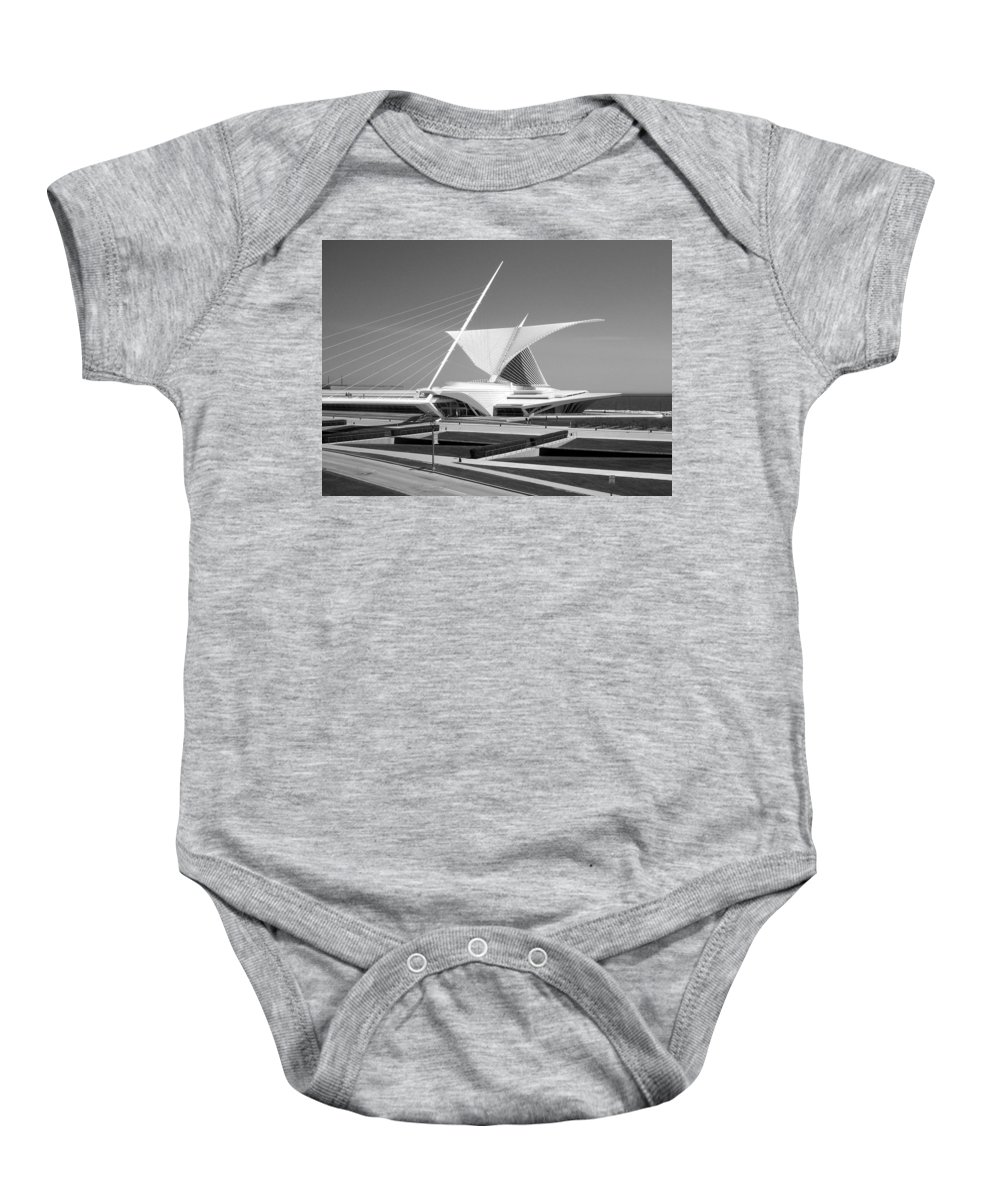 Mam Baby Onesie featuring the photograph Mam In Bw by Anita Burgermeister