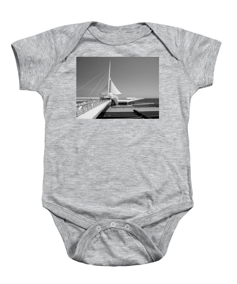 Mam Baby Onesie featuring the photograph Mam Spreading Wings B-w by Anita Burgermeister