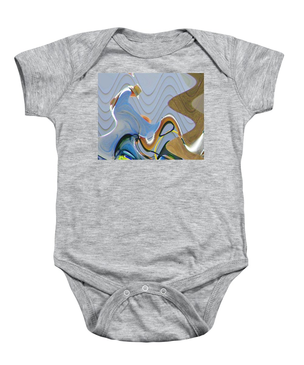 Abstract Baby Onesie featuring the digital art Man In The Hat by Lenore Senior