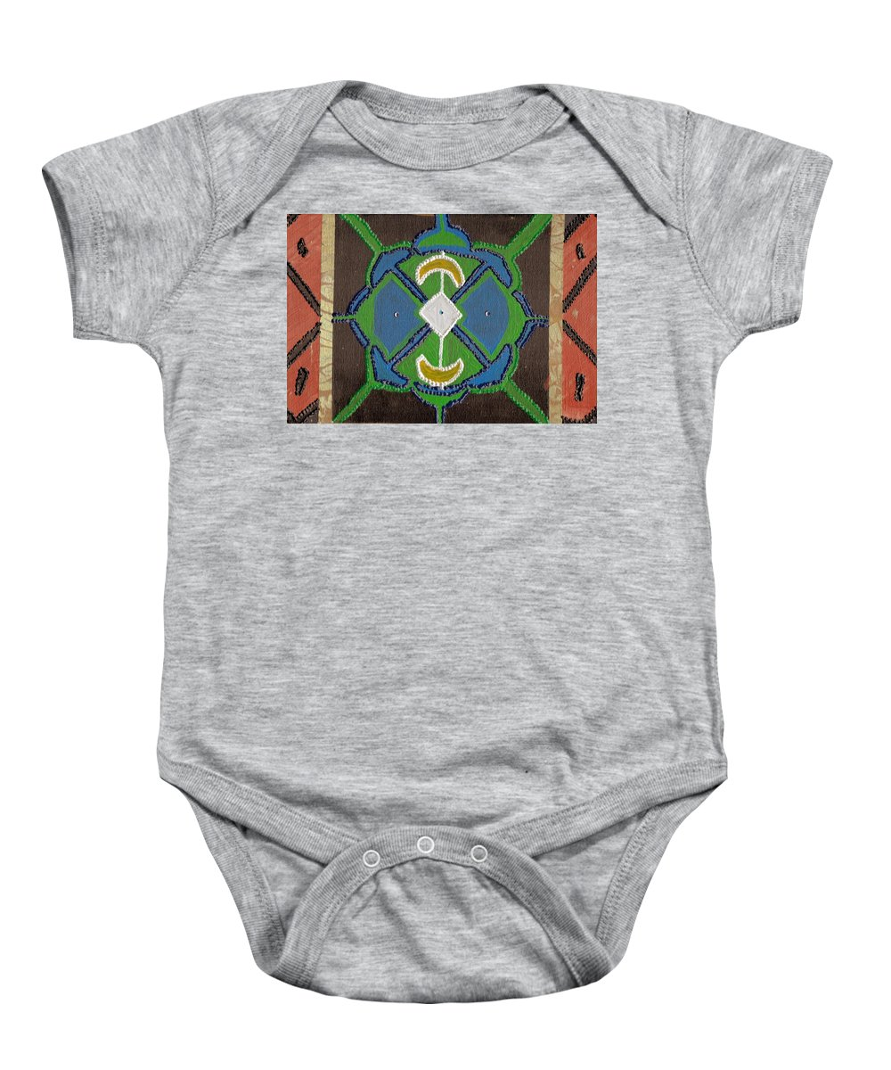 Paint Baby Onesie featuring the painting Mandela Dream by Crystal Neal