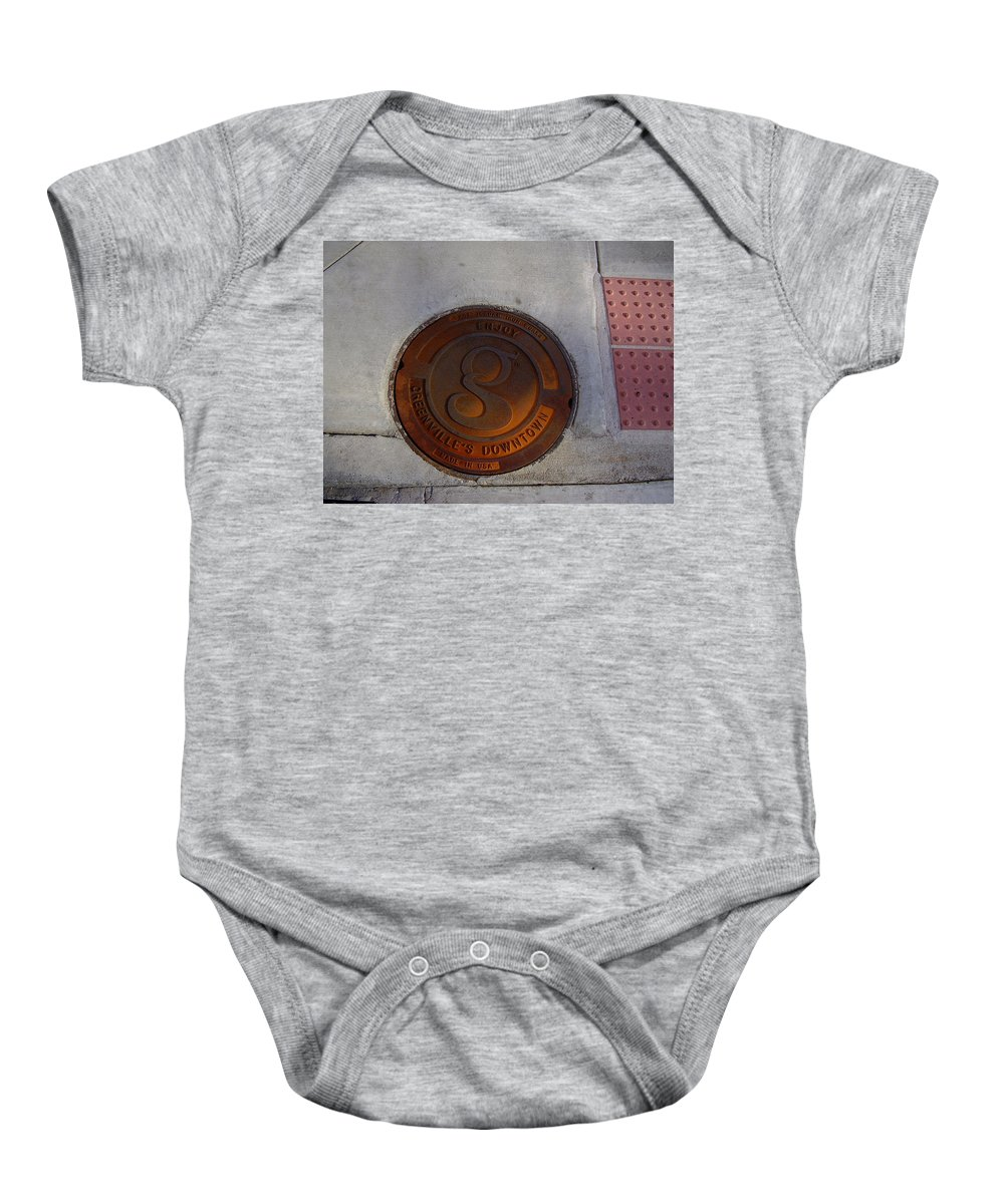 Manhole Baby Onesie featuring the photograph Manhole I by Flavia Westerwelle