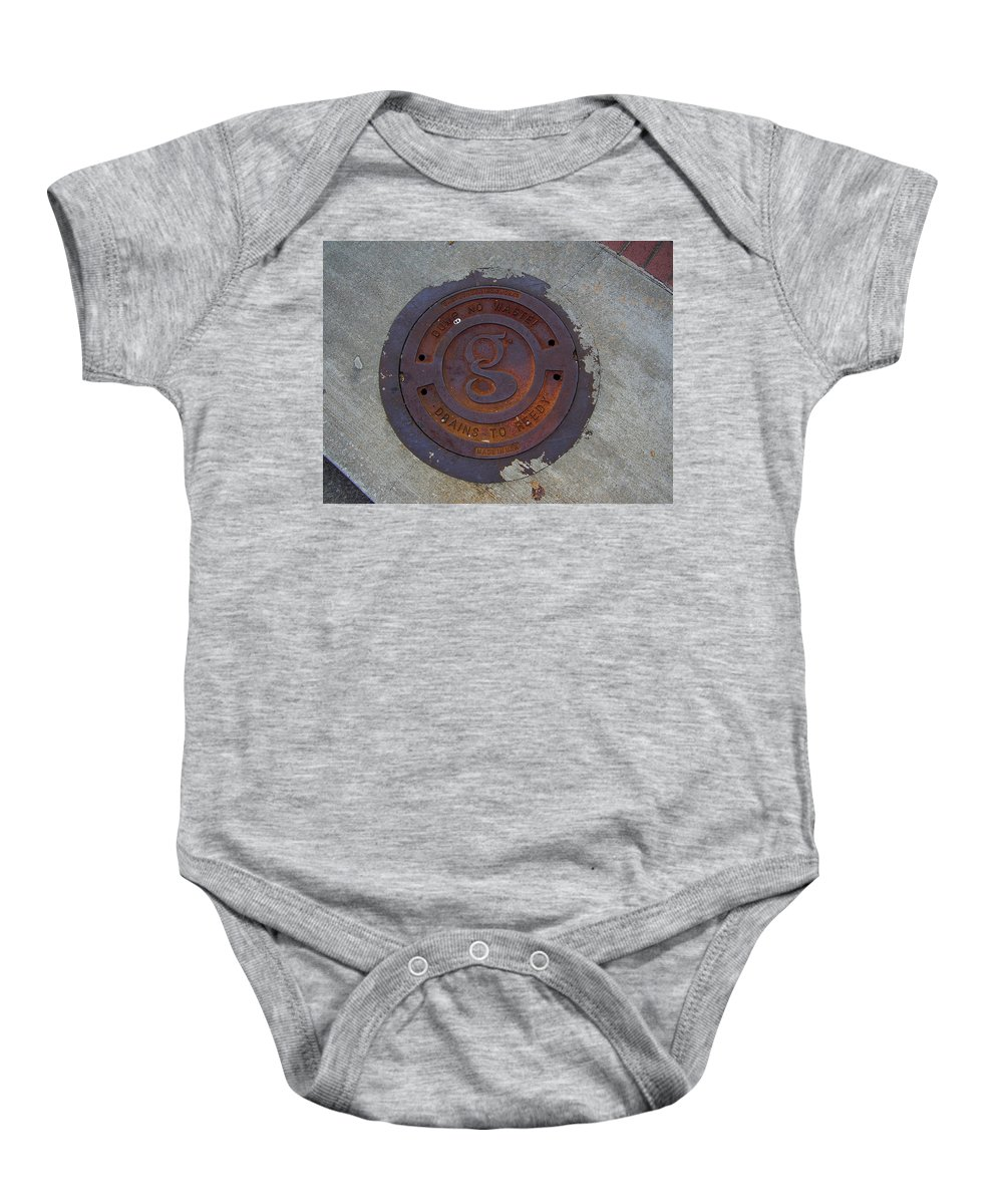 Manhole Baby Onesie featuring the photograph Manhole IIi by Flavia Westerwelle