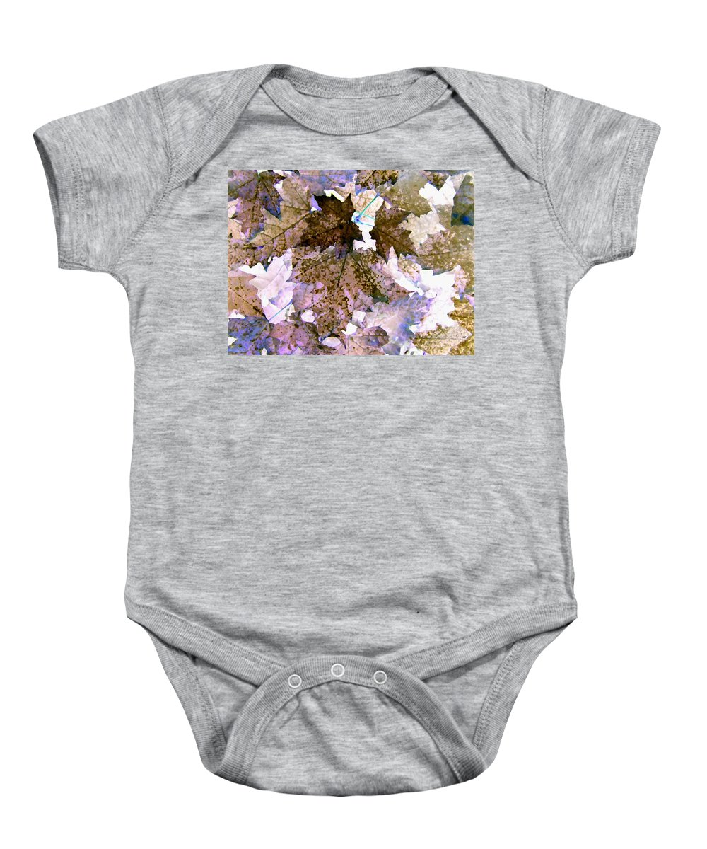 Maple Leaves Baby Onesie featuring the digital art Maple Mania 25 by Will Borden