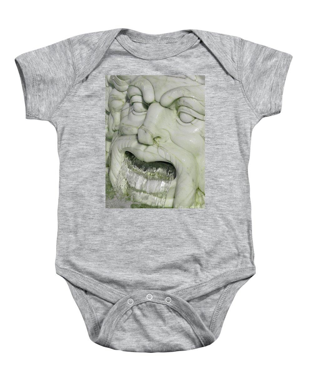 Fountain Baby Onesie featuring the photograph Marble Head by Ann Horn