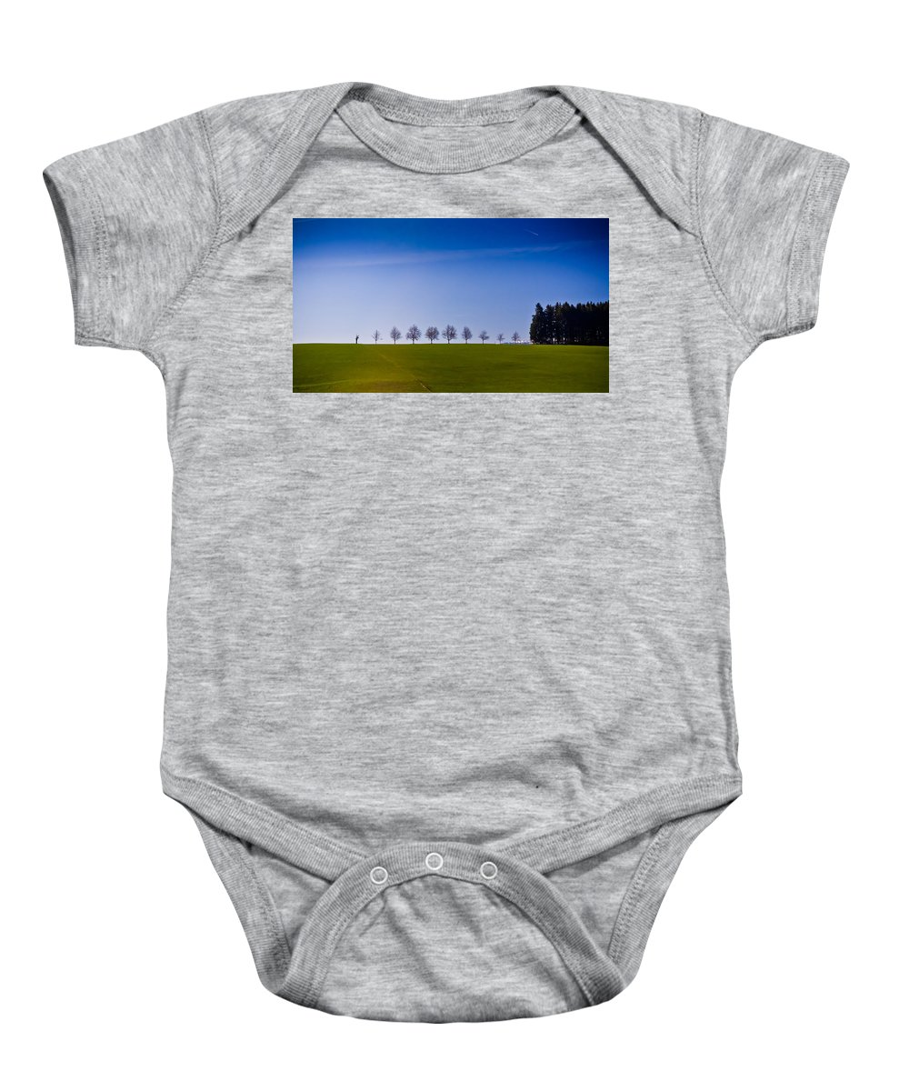 Landscapes Baby Onesie featuring the photograph March To The Forest by Jill Smith
