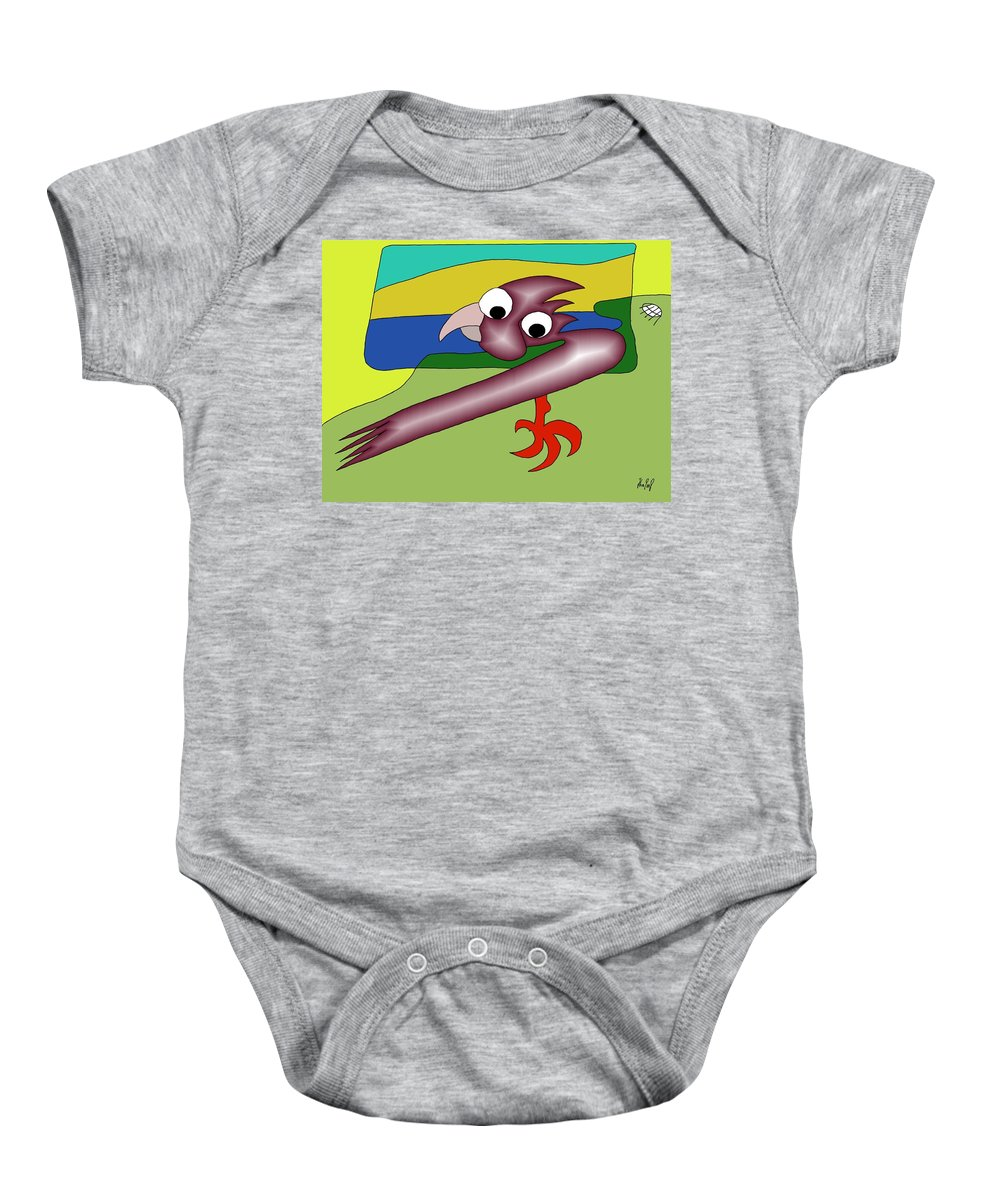 Husband Baby Onesie featuring the digital art Margot And Coco Watching Tv by Helmut Rottler