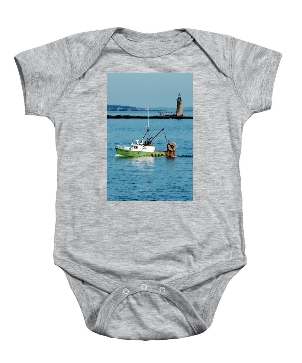 Coast Baby Onesie featuring the photograph Maritime by Greg Fortier