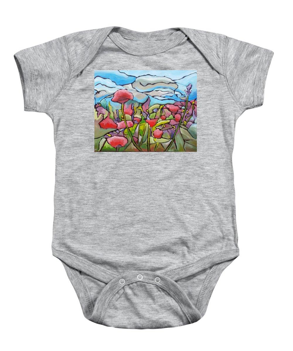 Almost As Beautiful As You 3 Baby Onesie featuring the painting Almost As Beautiful As You 3 by Paul Teleki