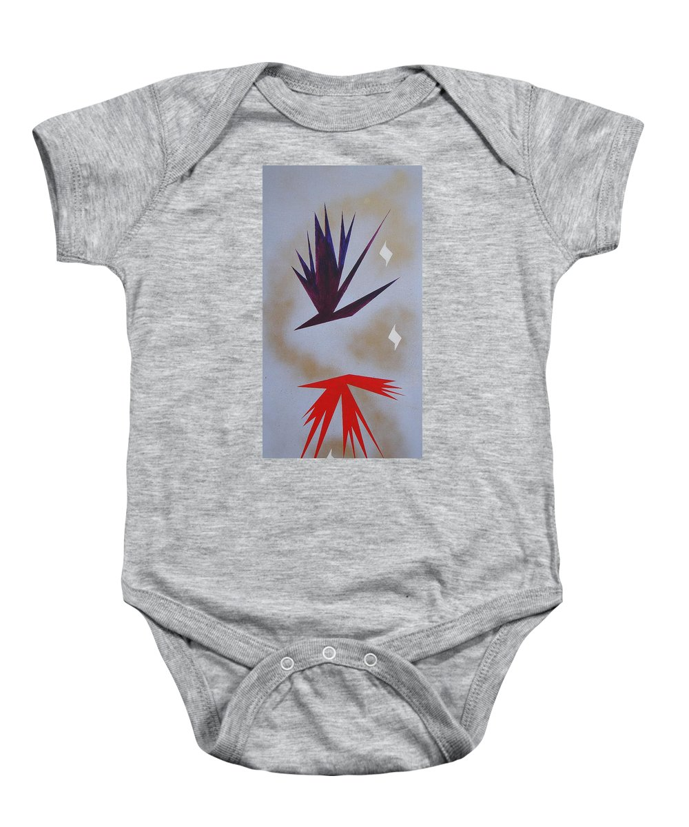 Birds Baby Onesie featuring the painting Mating Ritual by J R Seymour
