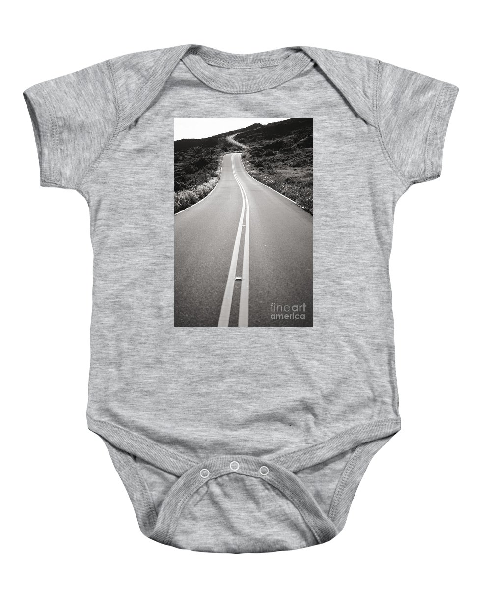 Afternoon Baby Onesie featuring the photograph Maui Road by Dana Edmunds - Printscapes
