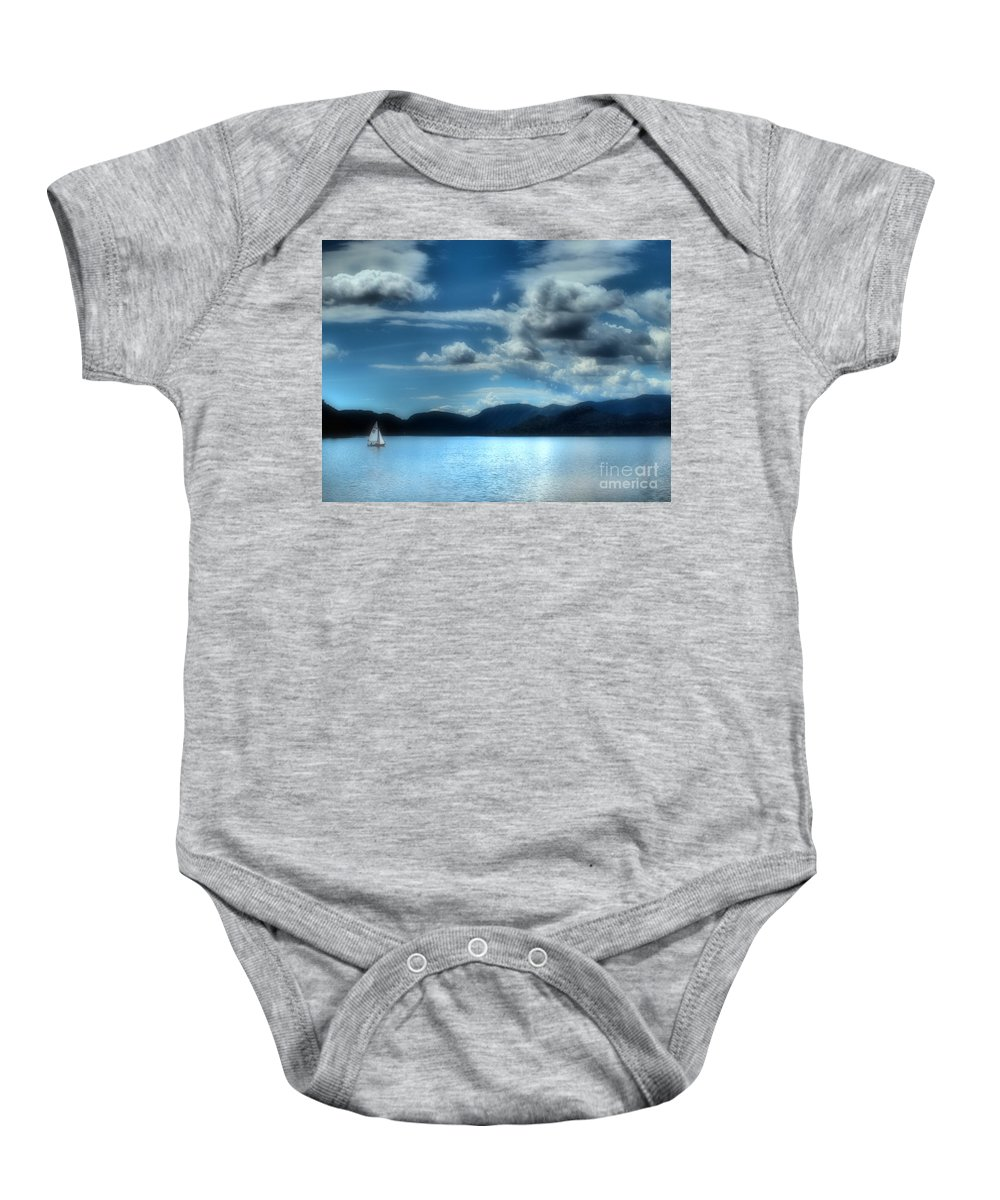 Lake Baby Onesie featuring the photograph May 30 2010 by Tara Turner