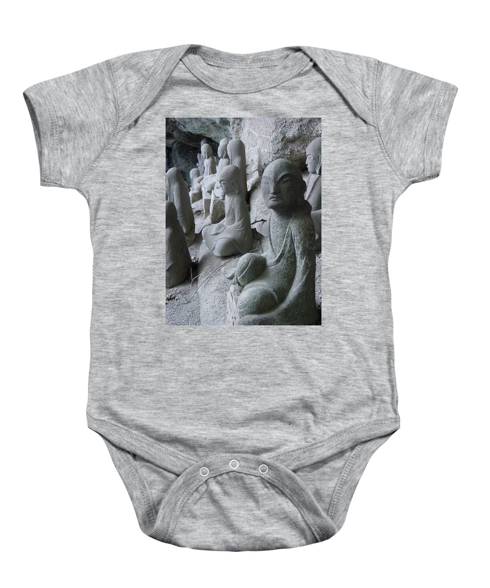 Statues Baby Onesie featuring the photograph May I Help You by D Turner