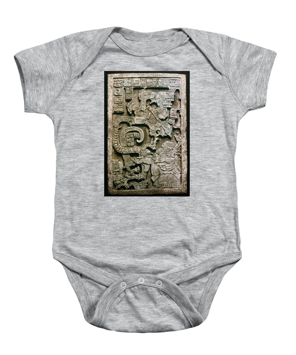 681 Baby Onesie featuring the photograph Mayan Glyph by Granger