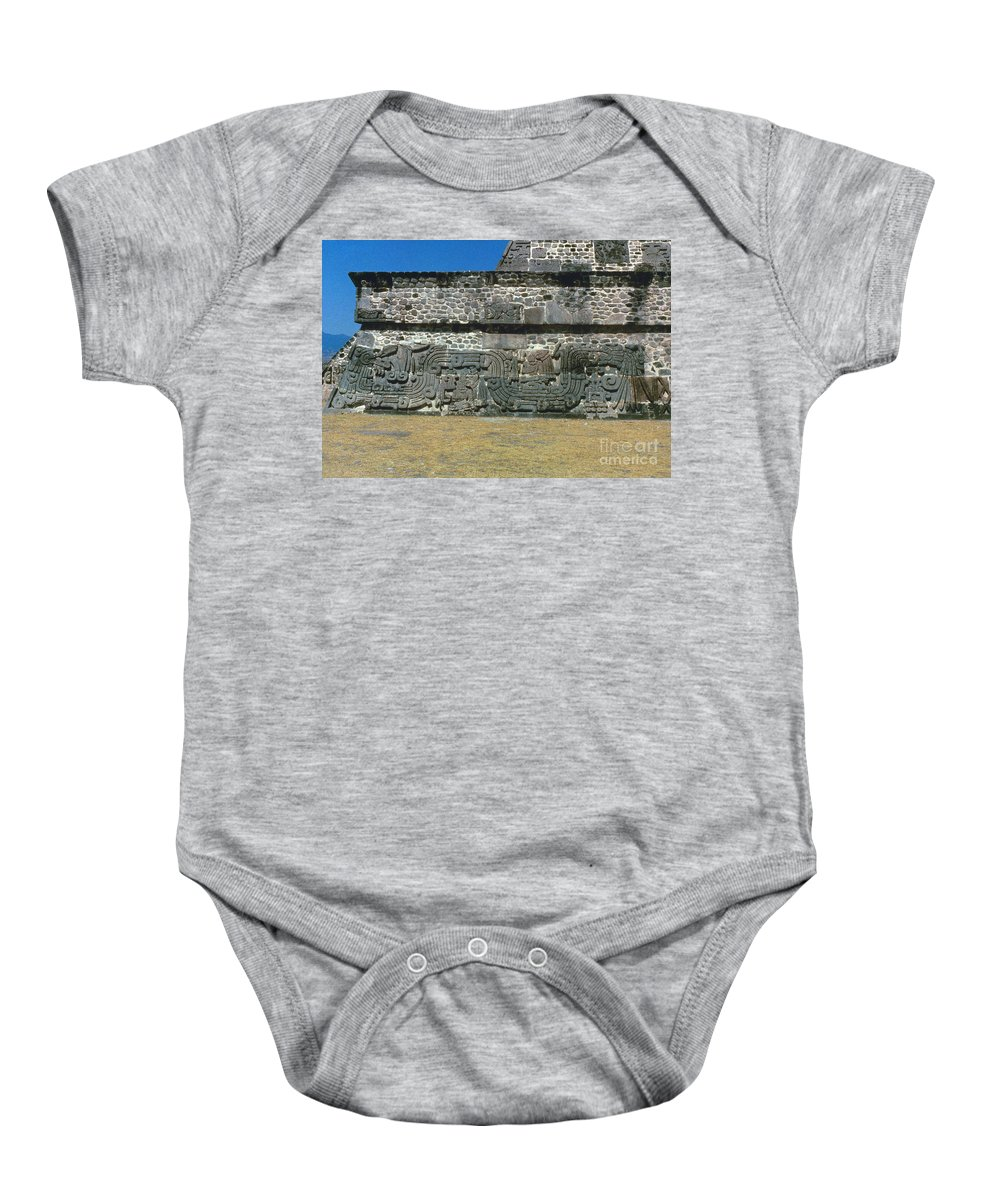450 Baby Onesie featuring the photograph Mayan Pyramid, C450 A.d by Granger